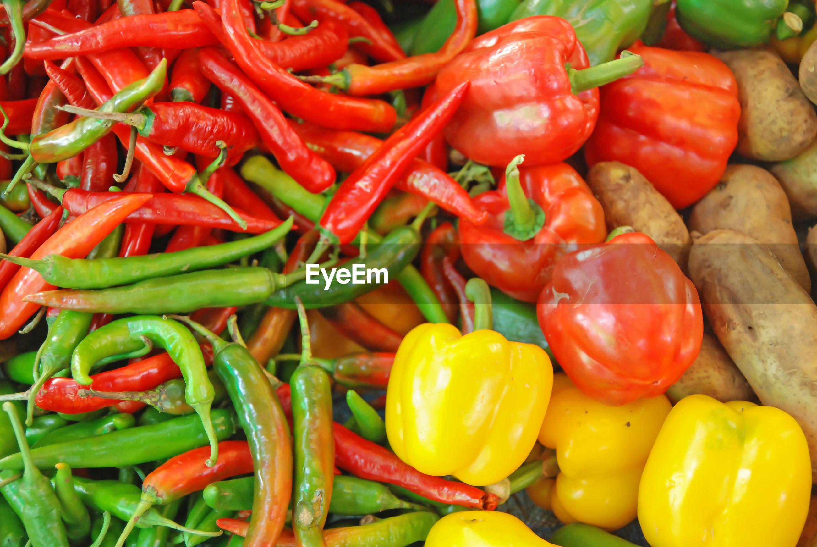 Full frame shot of peppers