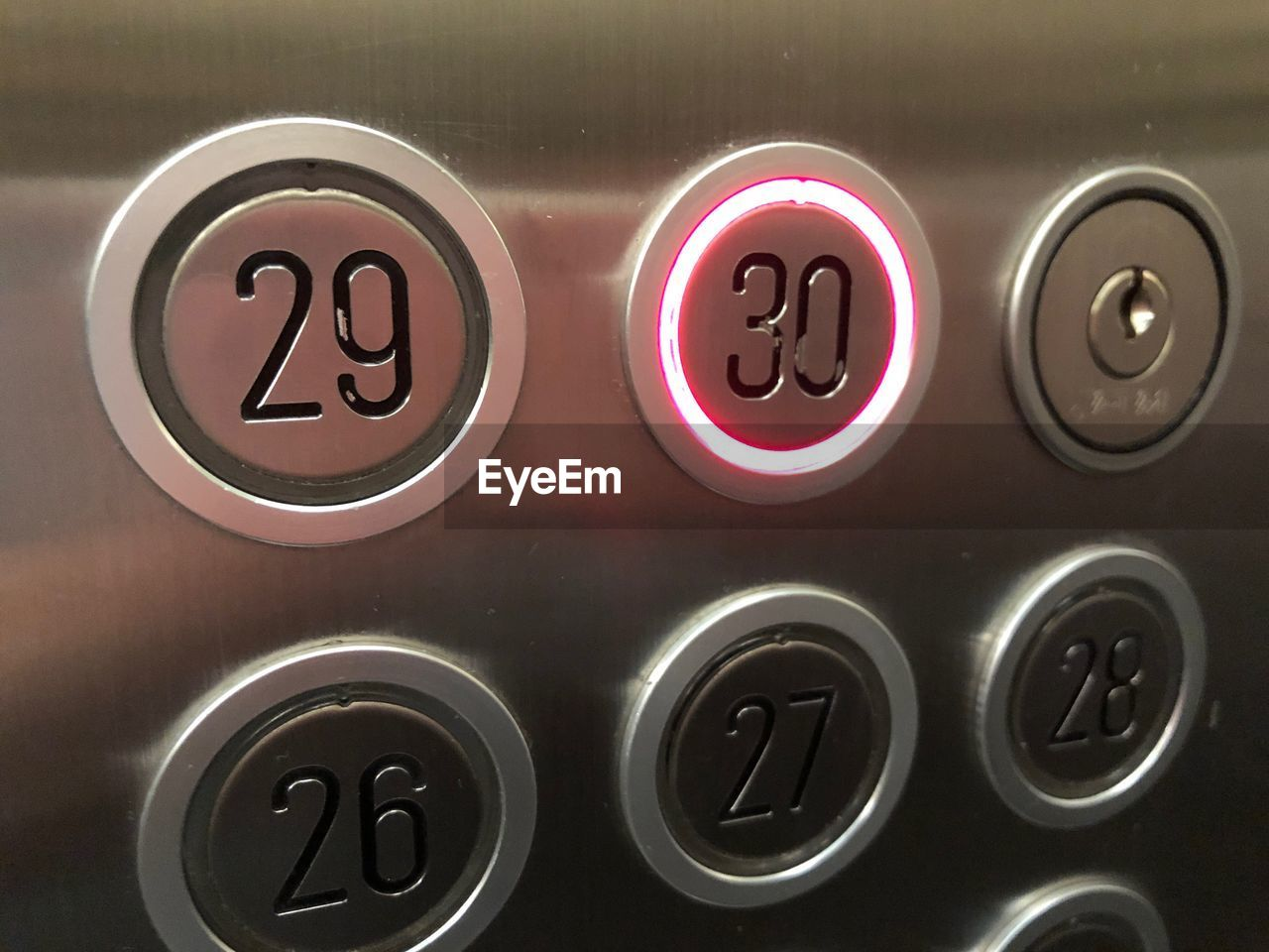 Close-up of numbers in elevator