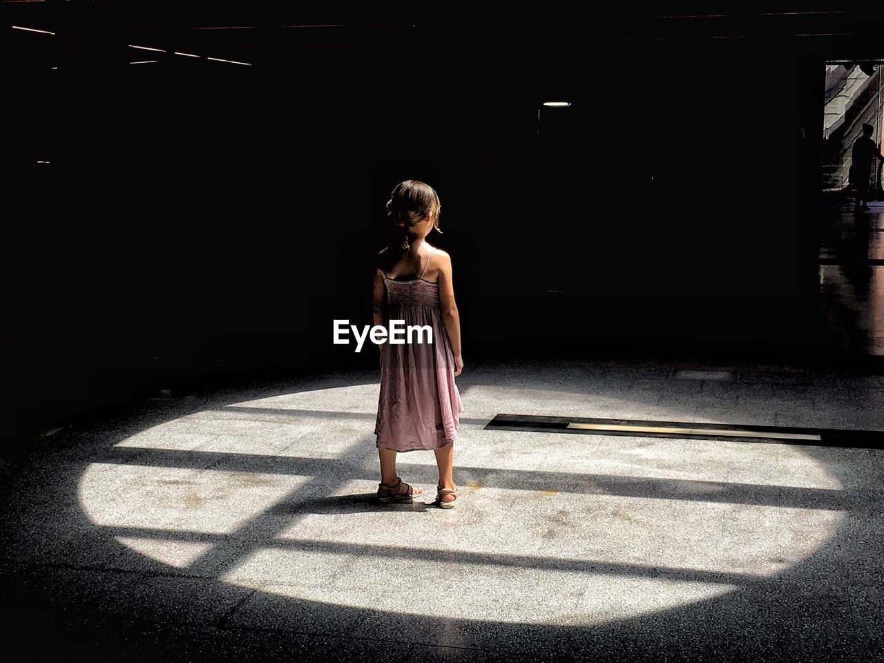 Full length of girl standing indoors
