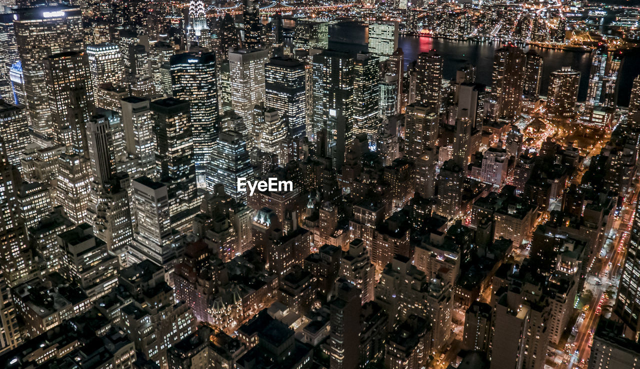 Full Frame Shot Of Illuminated Cityscape