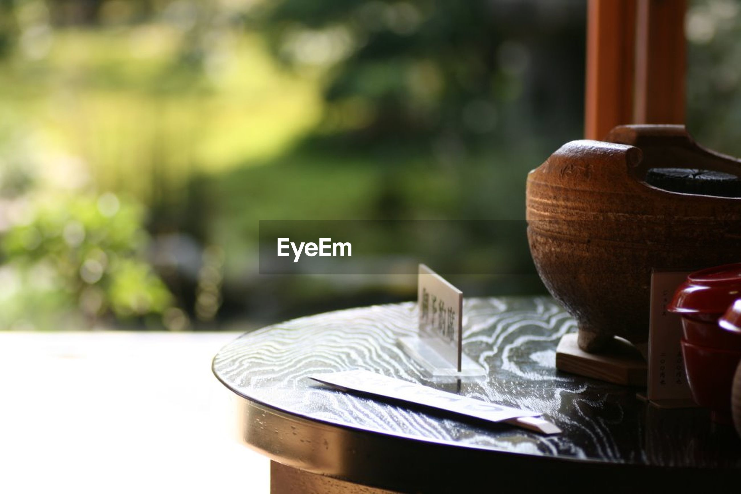 focus on foreground, no people, table, day, outdoors, close-up, nature