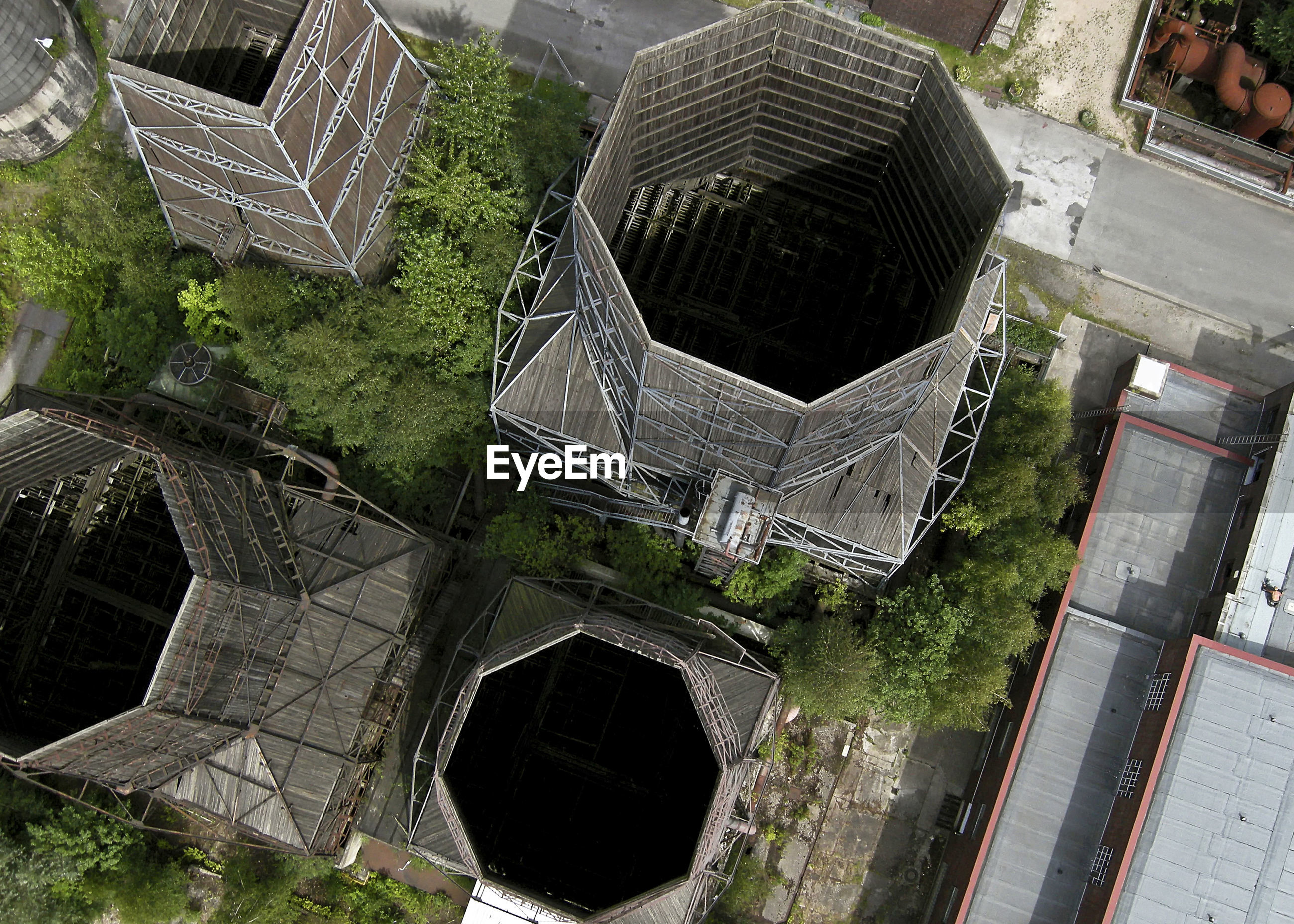 HIGH ANGLE VIEW OF BUILT STRUCTURES