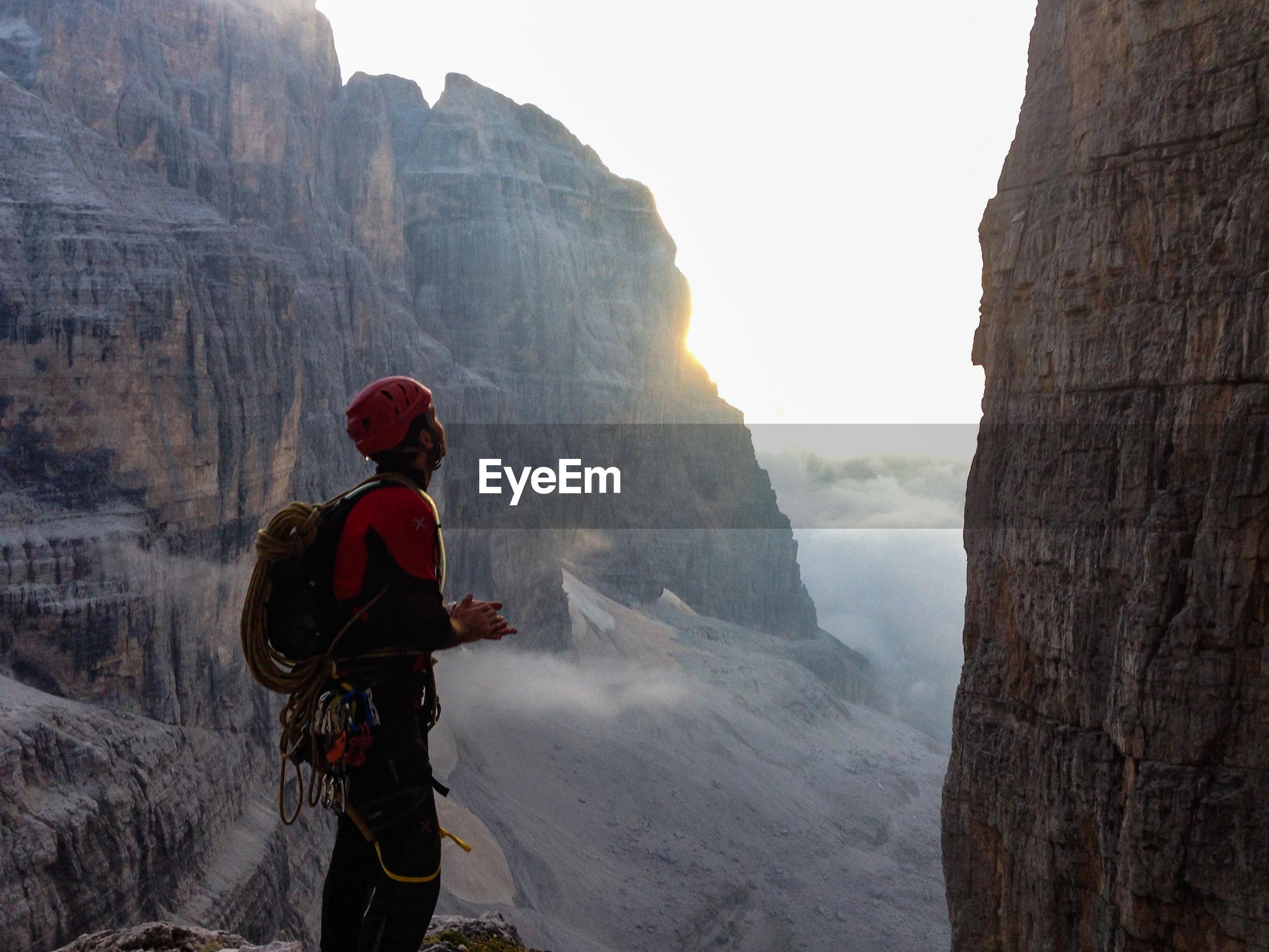 Mountain climber in italy