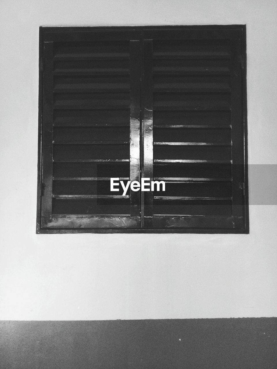 built structure, architecture, window, no people, building exterior, building, wall - building feature, day, low angle view, closed, wood - material, outdoors, house, pattern, wall, blinds, close-up, shutter, metal, window frame