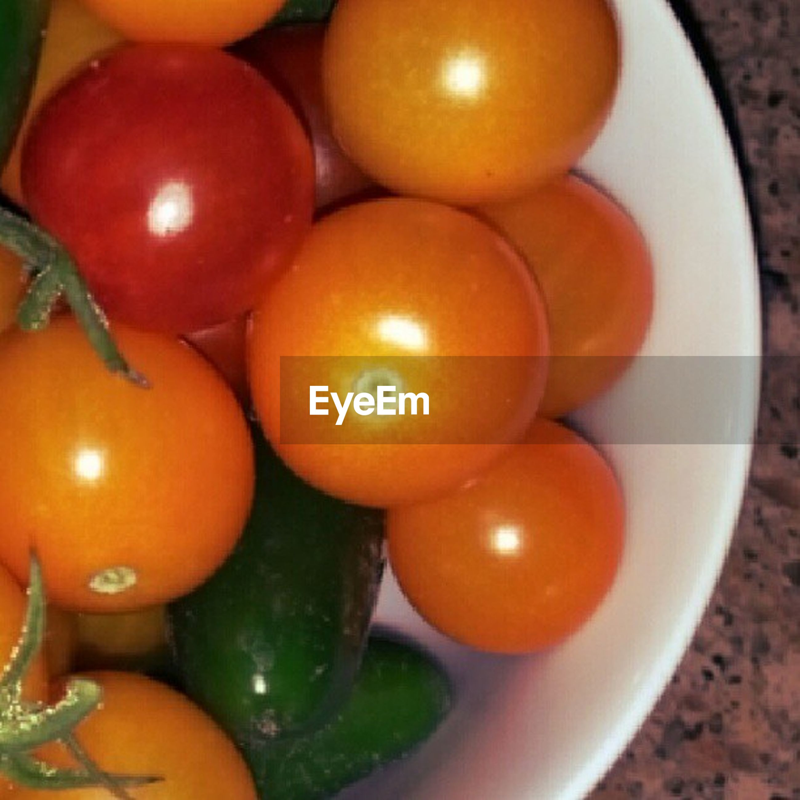 food and drink, healthy eating, food, freshness, fruit, indoors, tomato, vegetable, still life, orange - fruit, close-up, organic, orange color, high angle view, green color, table, ripe, no people, juicy, large group of objects