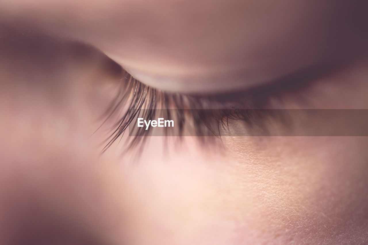 Cropped Eye Of Person
