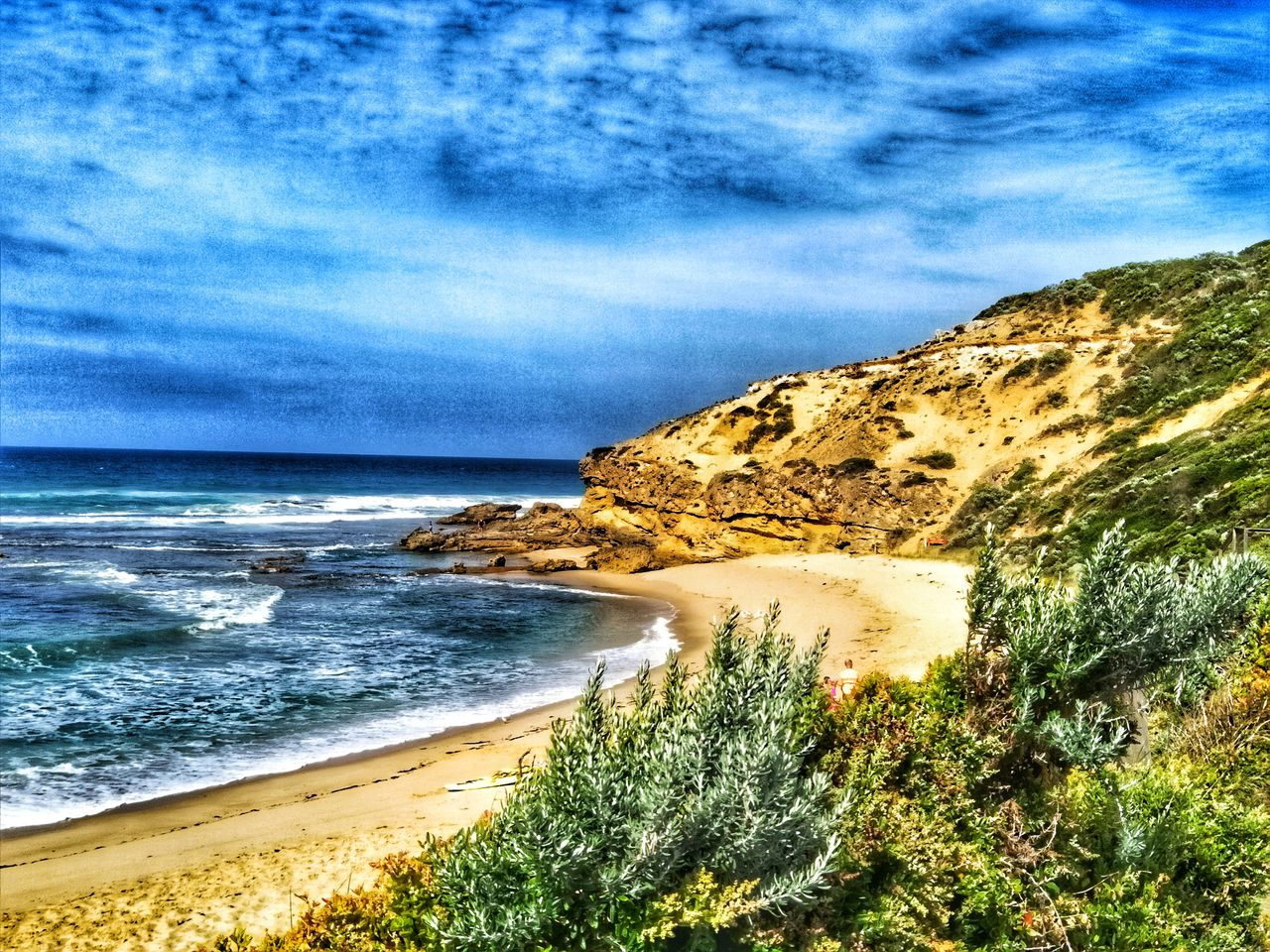 sea, nature, beauty in nature, sky, scenics, tranquility, tranquil scene, horizon over water, no people, water, outdoors, day, plant, landscape, beach, tree, mountain, scenery