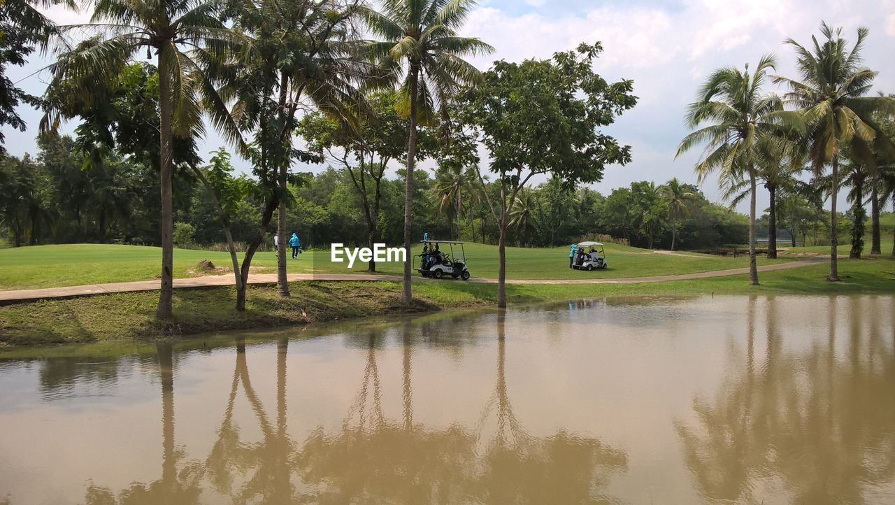 Scenic view of golf course