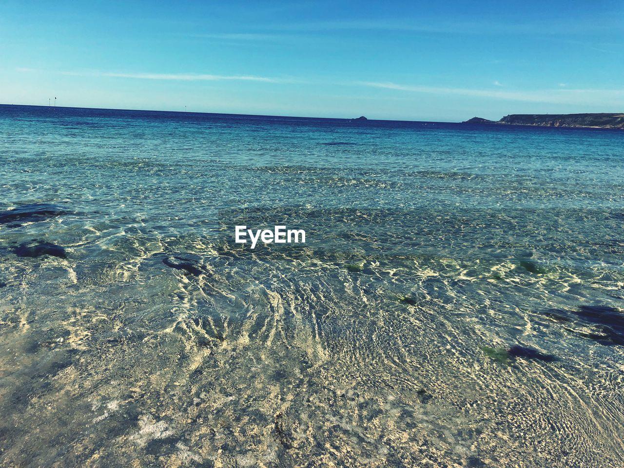 sea, water, beauty in nature, sky, nature, tranquility, scenics - nature, no people, tranquil scene, land, blue, day, horizon, horizon over water, idyllic, beach, outdoors, non-urban scene, waterfront, marine, shallow
