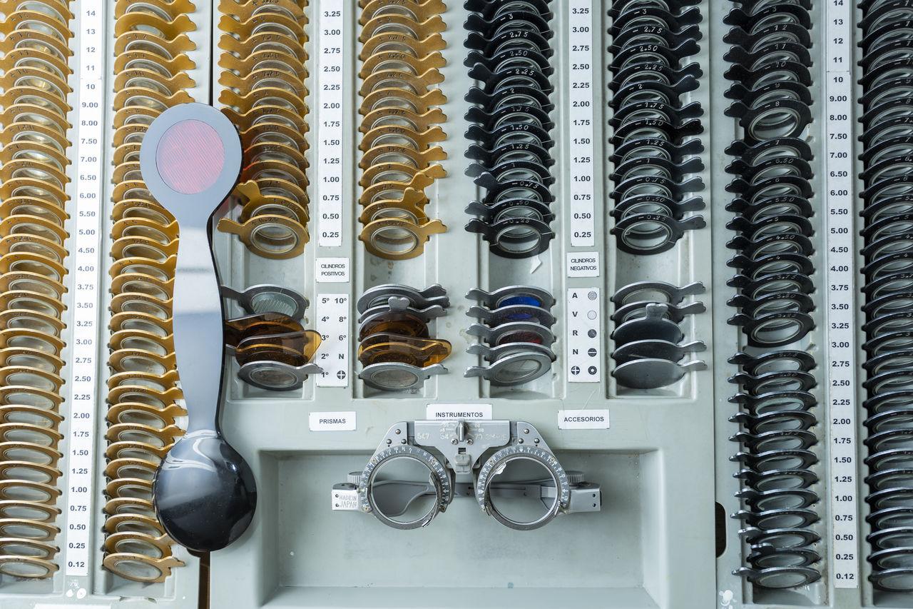 View of eye test equipment