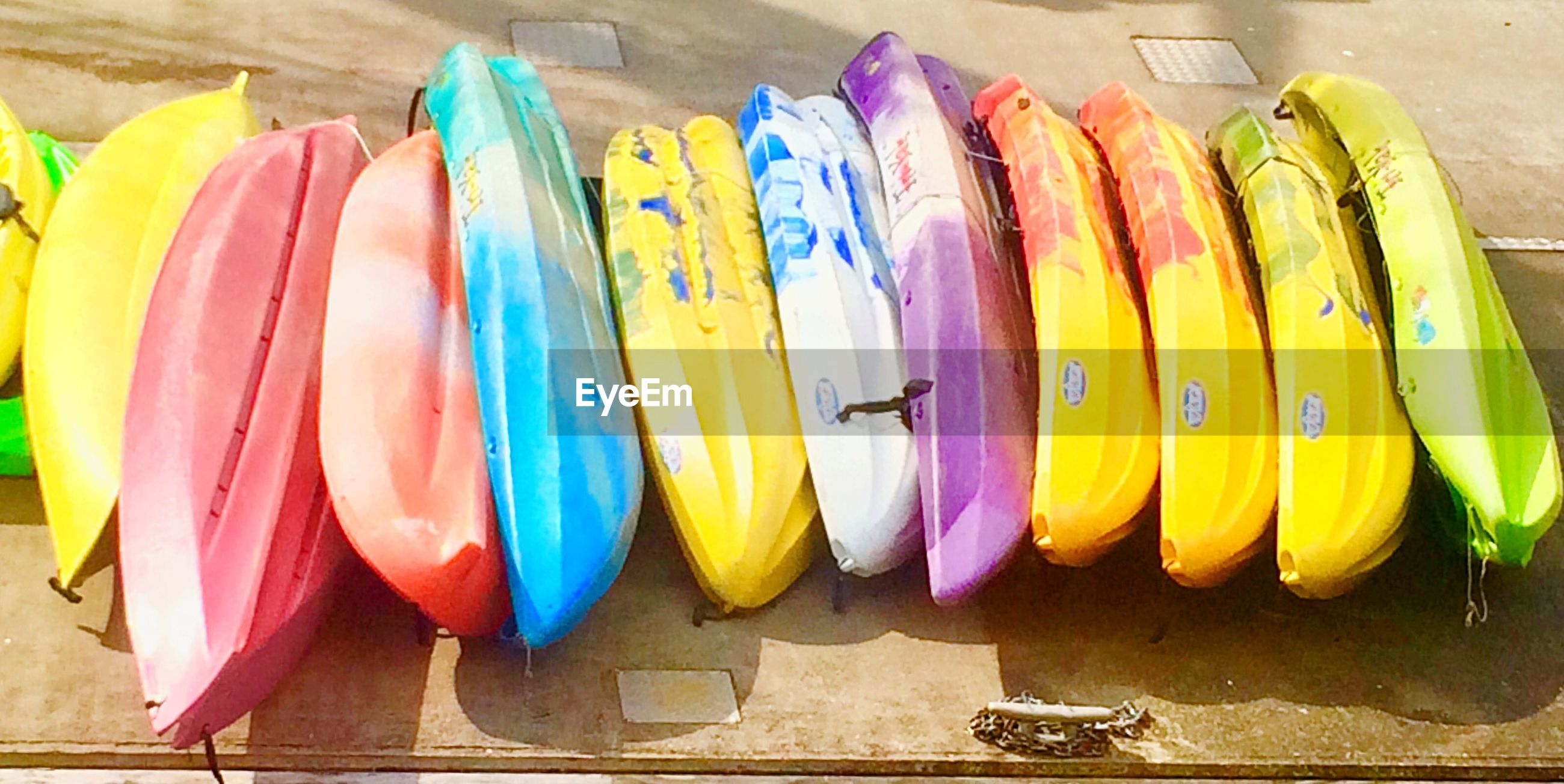ROW OF COLORFUL OBJECTS