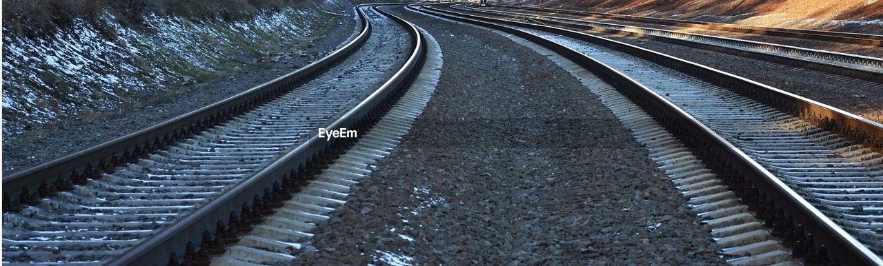 Panoramic view of railroad tracks
