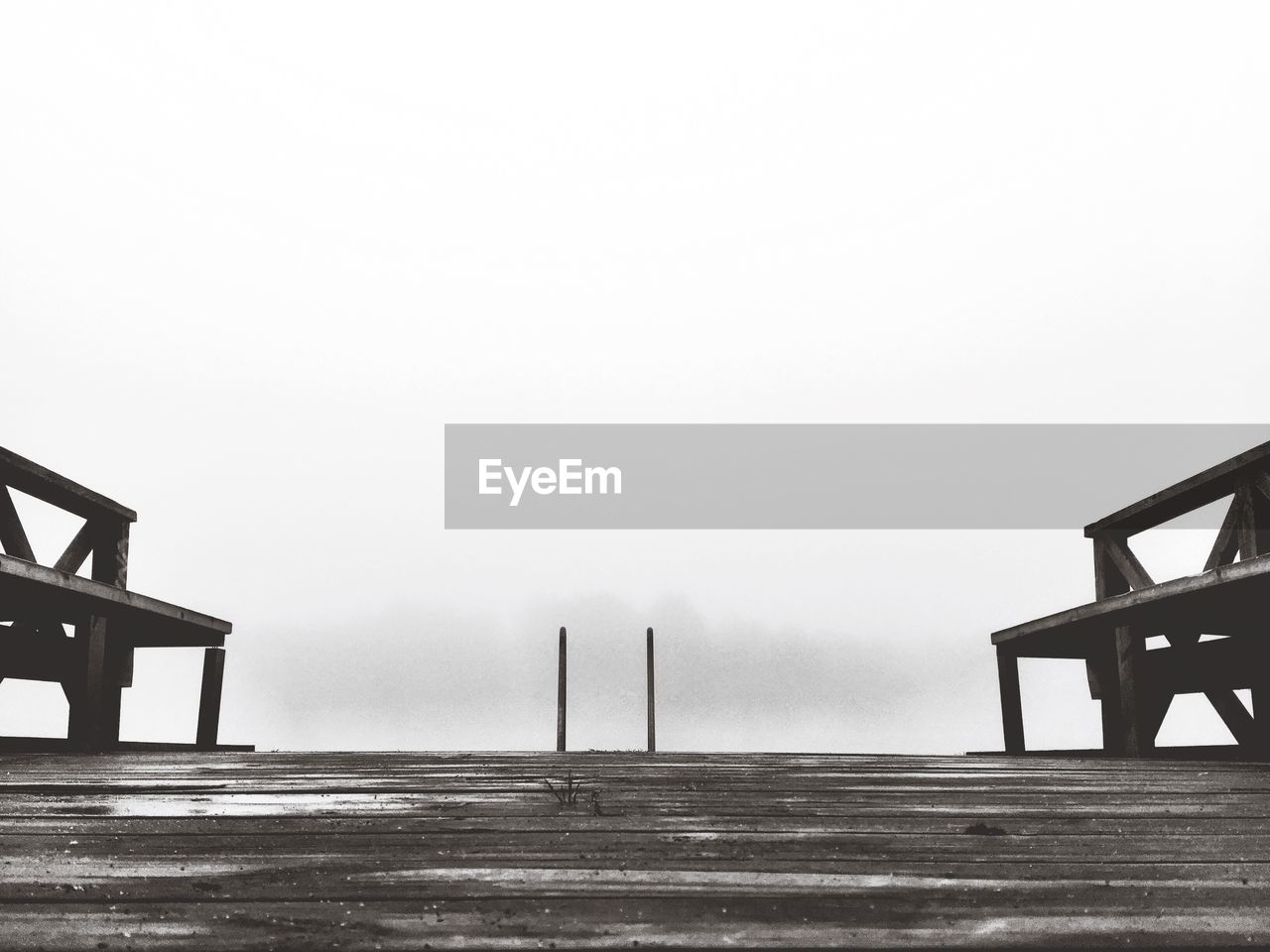Wooden pier against sky