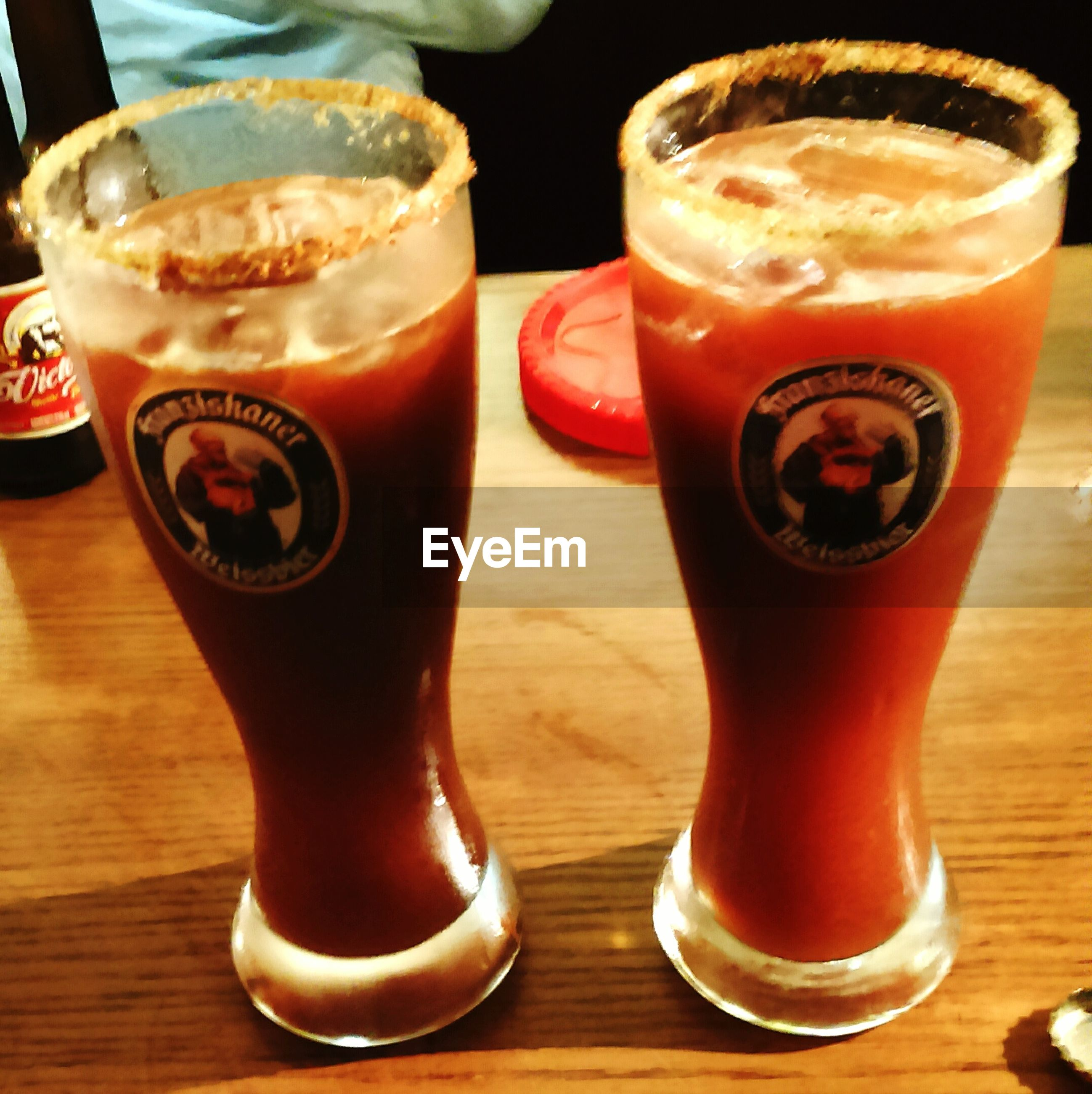 drink, food and drink, refreshment, table, indoors, freshness, still life, frothy drink, close-up, coffee - drink, coffee cup, drinking glass, wood - material, focus on foreground, wooden, alcohol, beverage, brown, coffee, text