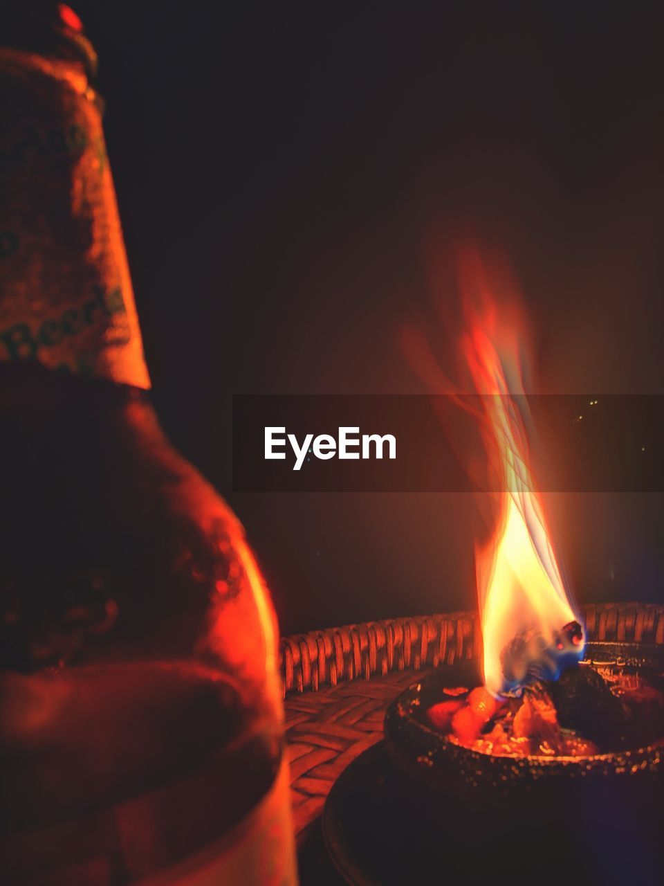 flame, burning, heat - temperature, night, no people, close-up, indoors, freshness