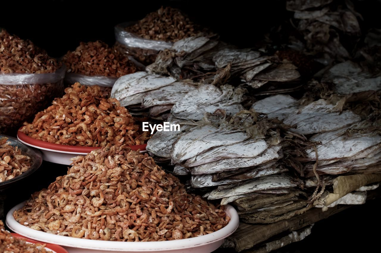 Dried Food For Sale In Market
