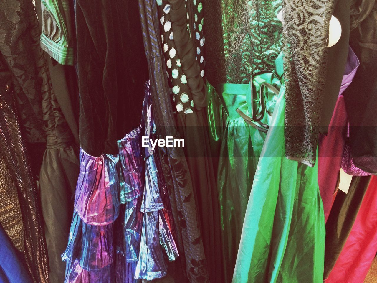 for sale, hanging, retail, variation, clothing, textile, market, market stall, fabric, choice, no people, multi colored, cloth, indoors, day, close-up