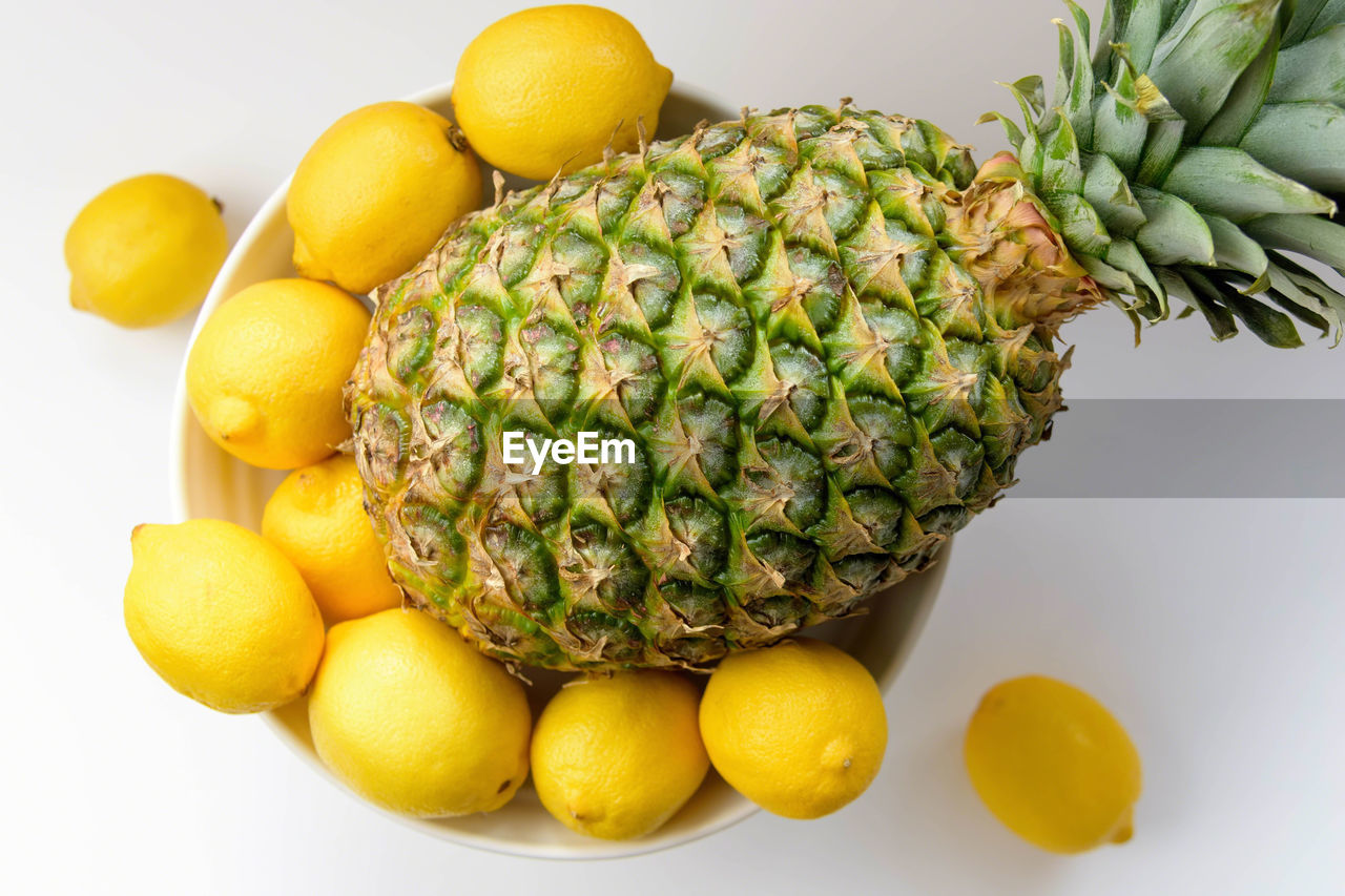 food, fruit, food and drink, yellow, healthy eating, freshness, lemon, white background, studio shot, citrus fruit, banana, no people, lime, close-up, indoors, ready-to-eat, day