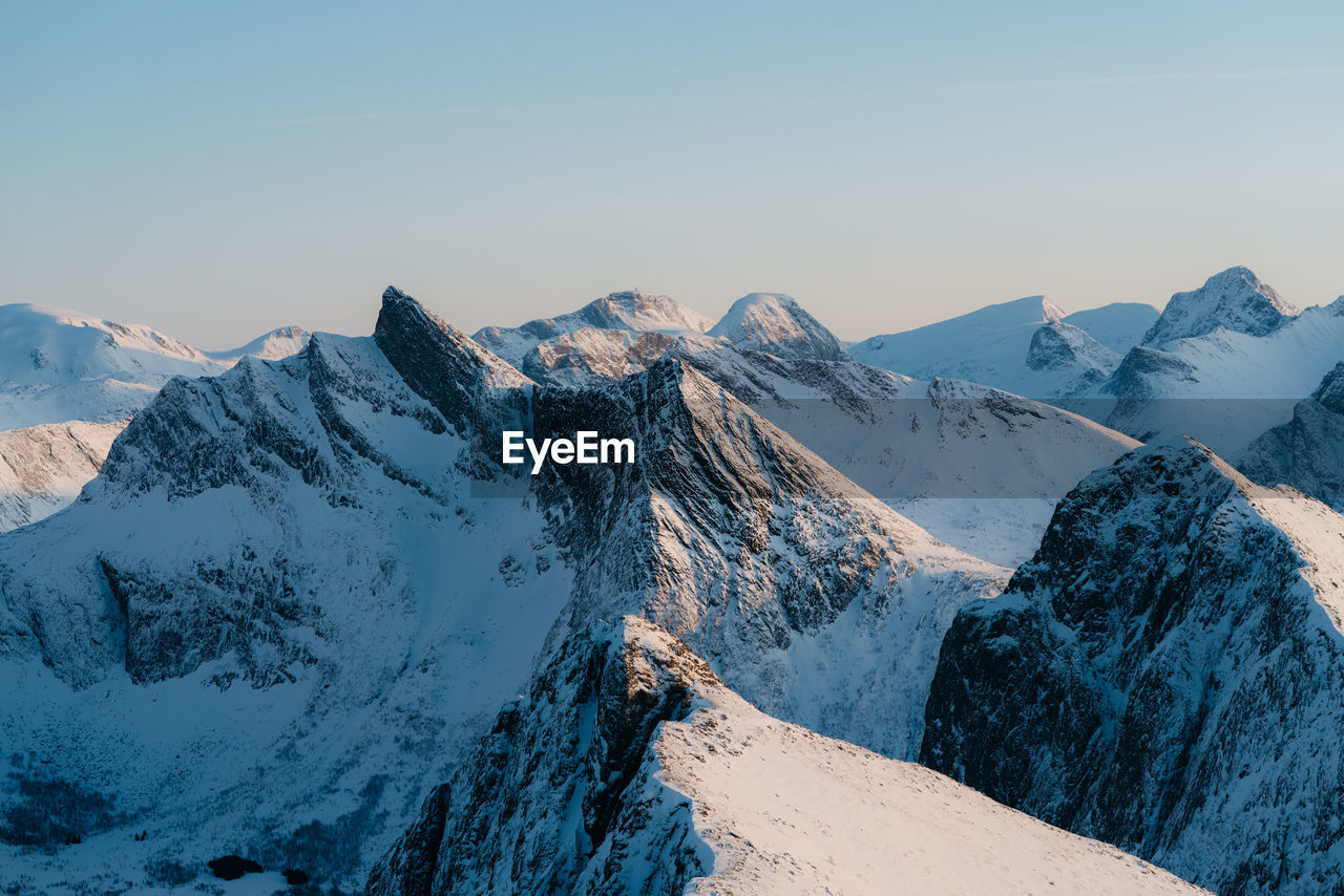 snow, mountain, winter, cold temperature, mountain range, tranquil scene, nature, tranquility, beauty in nature, scenics, snowcapped mountain, weather, no people, outdoors, day, landscape, sky