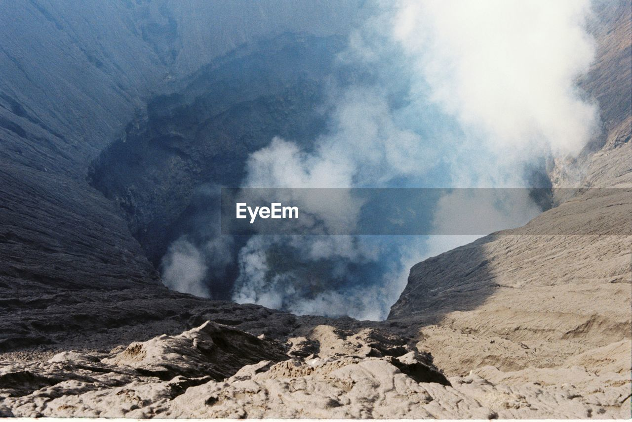 Scenic View Of Crater