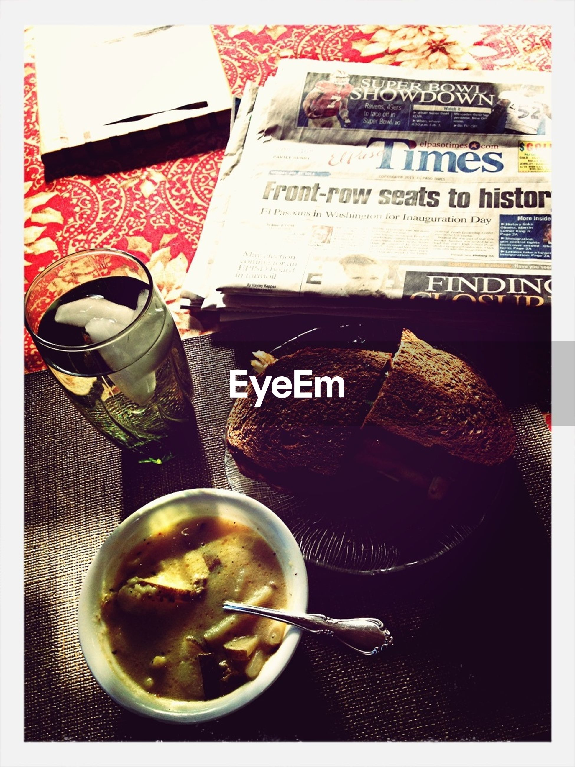 food and drink, indoors, table, drink, freshness, food, still life, coffee cup, refreshment, transfer print, coffee - drink, spoon, plate, healthy eating, bowl, auto post production filter, high angle view, ready-to-eat, coffee, serving size