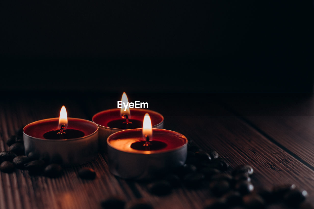 Scented candles burning, great design for any purposes. home aroma.