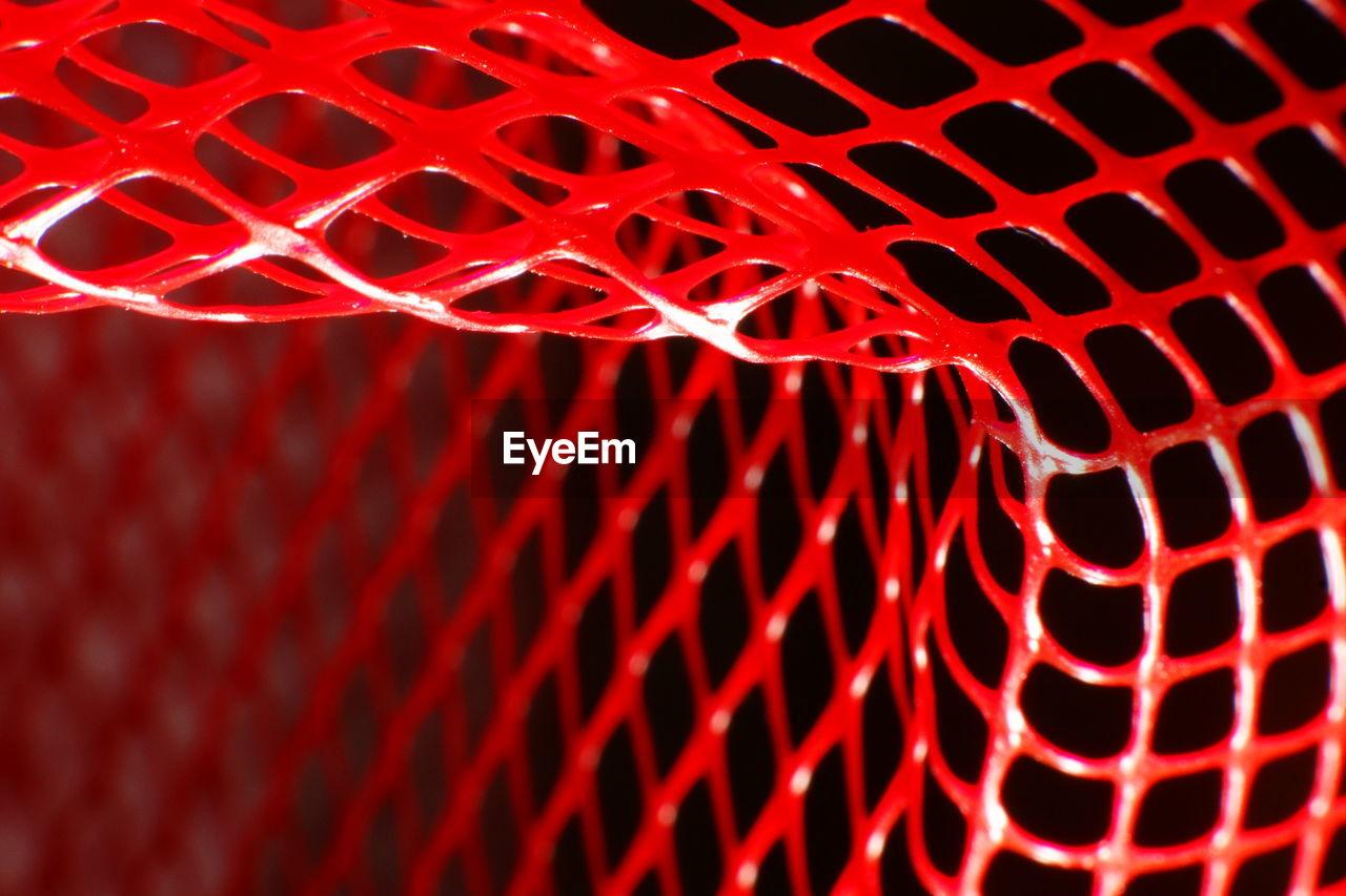 Detail shot of red net