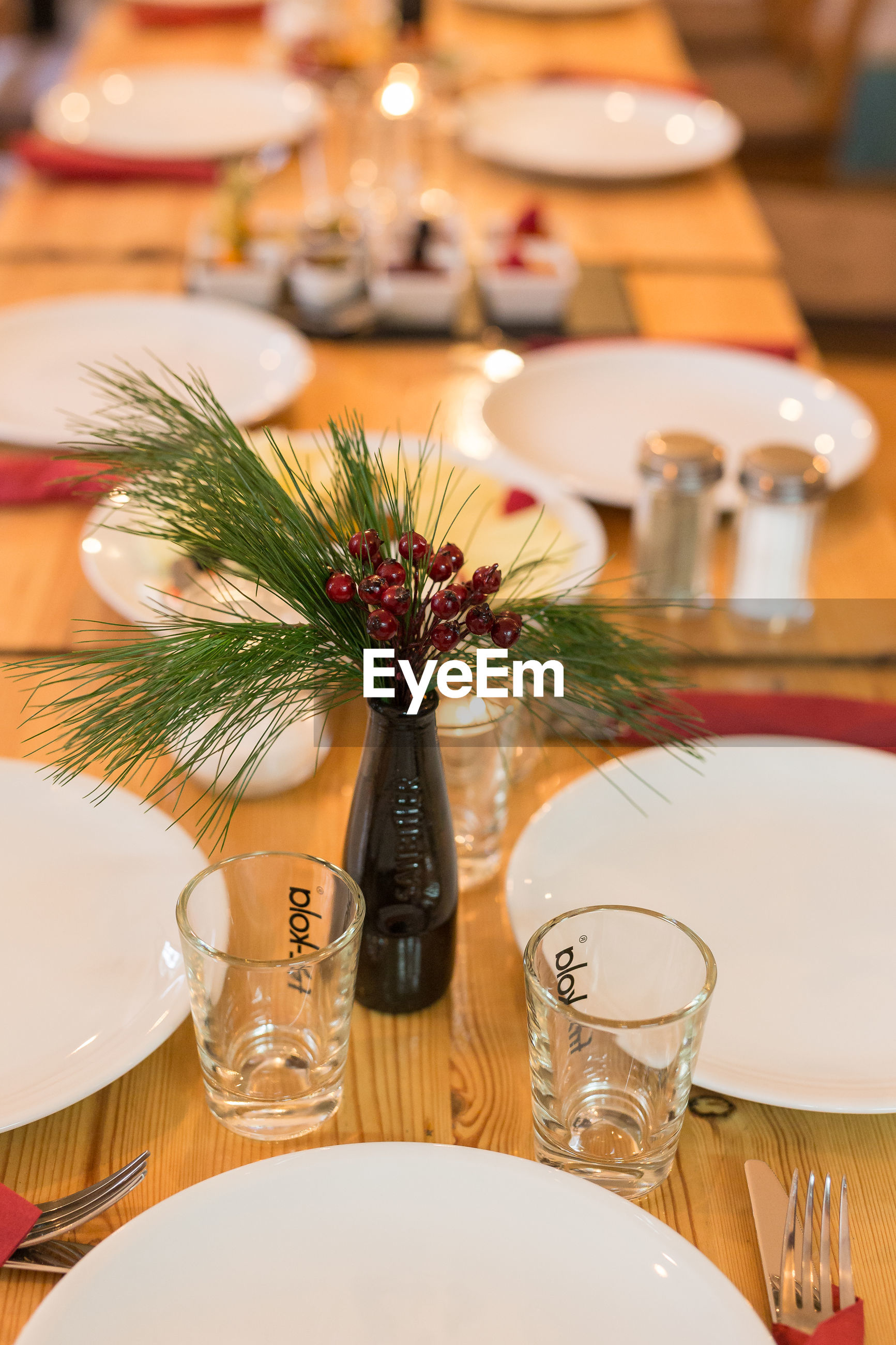 table, place setting, plate, restaurant, food and drink, wineglass, dining table, fork, indoors, drinking glass, salt shaker, candle, vase, dinner, food, flower, no people, celebration, chair, freshness, napkin, close-up, day