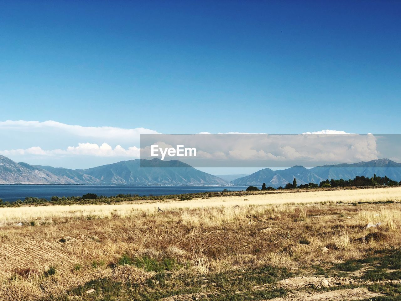 sky, mountain, scenics - nature, tranquil scene, tranquility, environment, landscape, beauty in nature, blue, land, non-urban scene, mountain range, plant, day, nature, no people, field, grass, cloud - sky, idyllic, outdoors