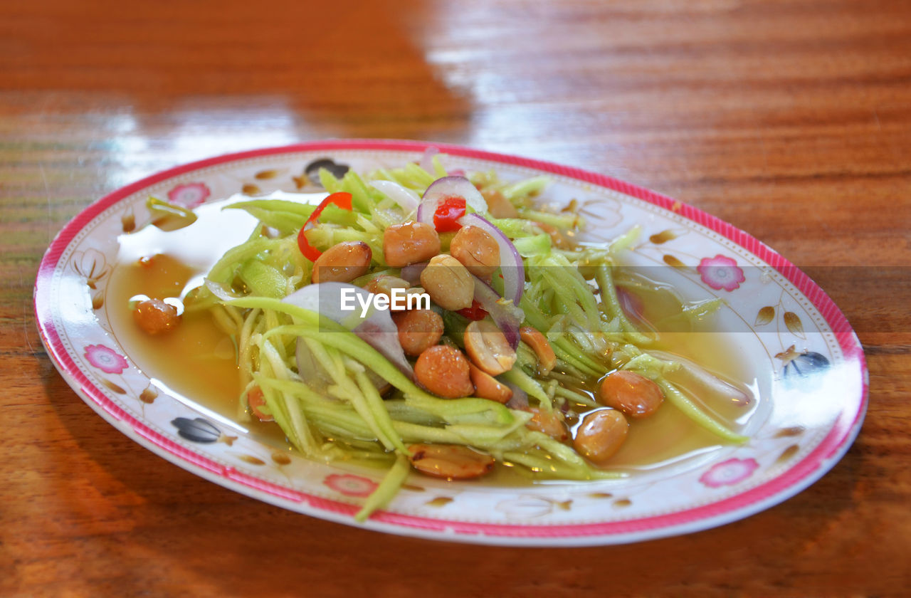 food and drink, food, healthy eating, freshness, wellbeing, vegetable, table, ready-to-eat, indoors, still life, no people, close-up, plate, serving size, pasta, italian food, bowl, high angle view, soup, garnish, crockery, vegetable soup
