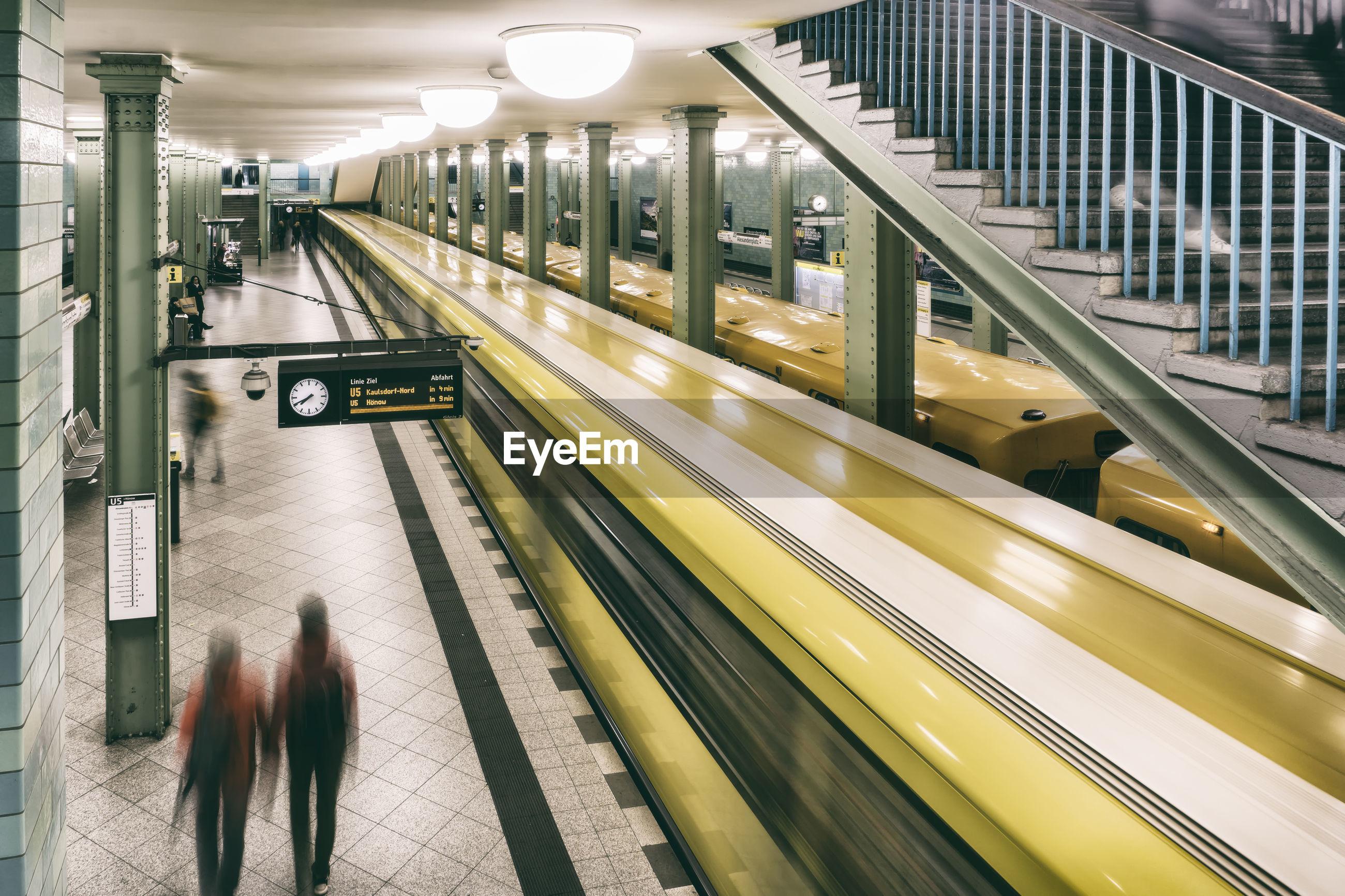 Subway trains at station