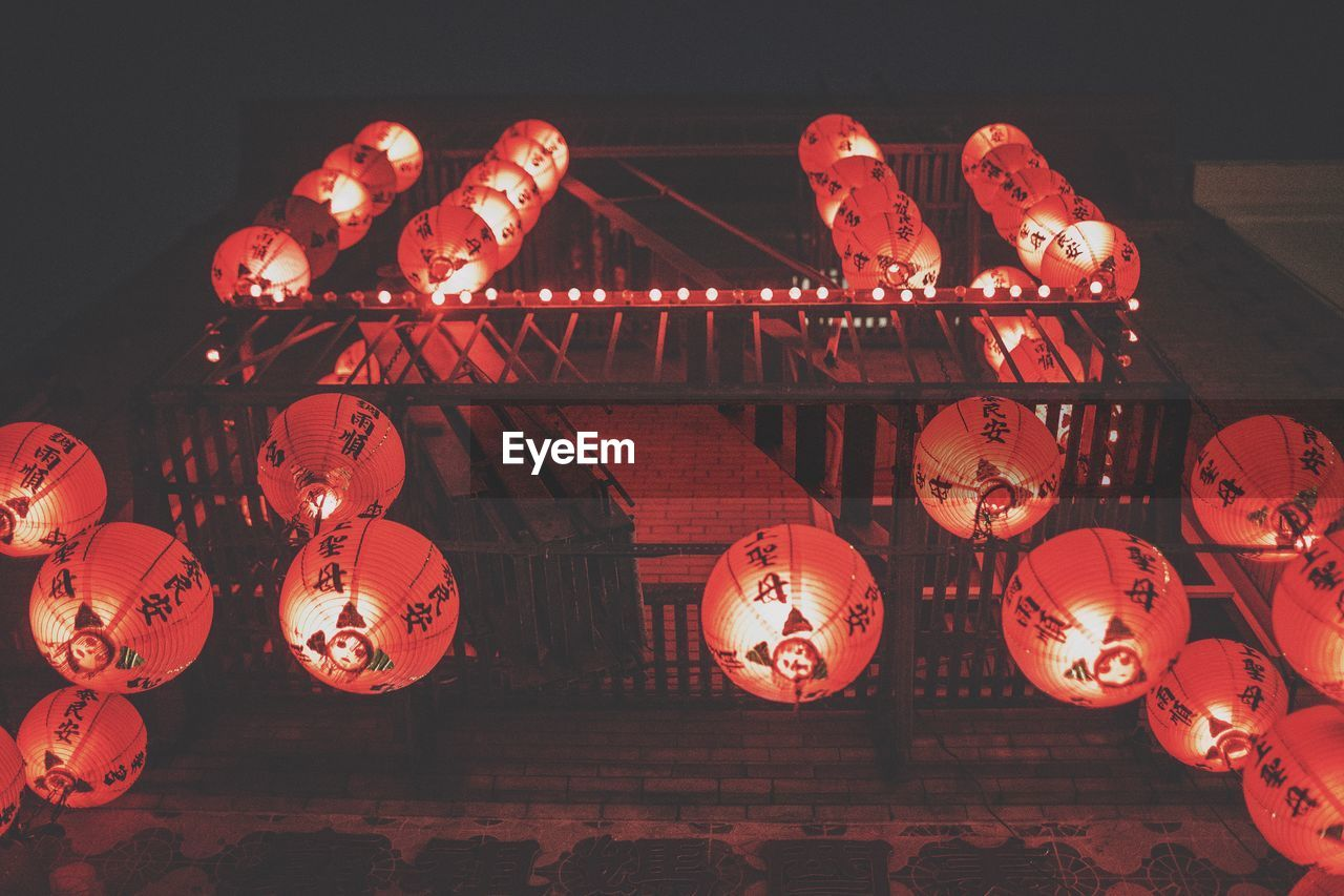 Low angle view of chinese lanterns