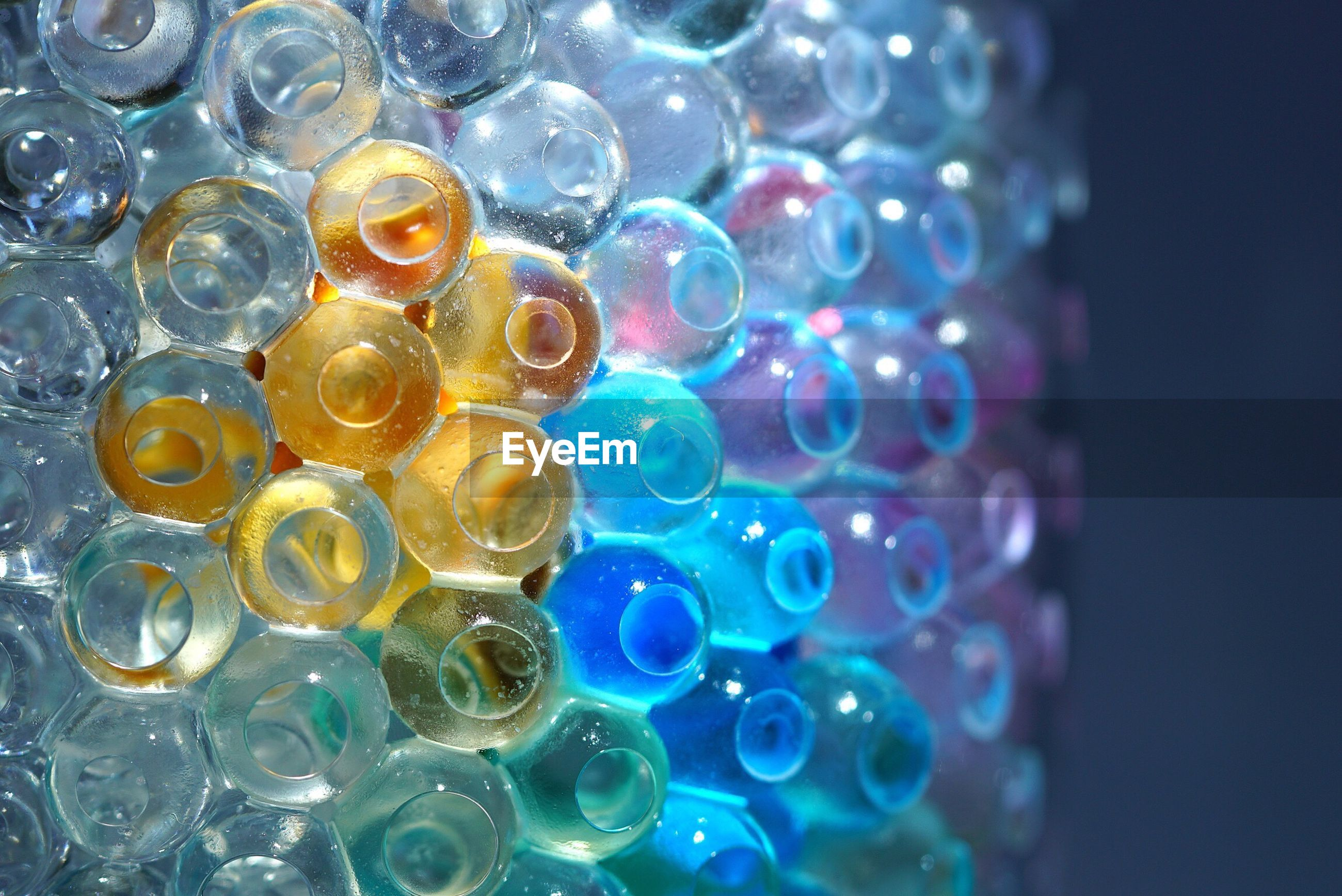 Close-up of water beads