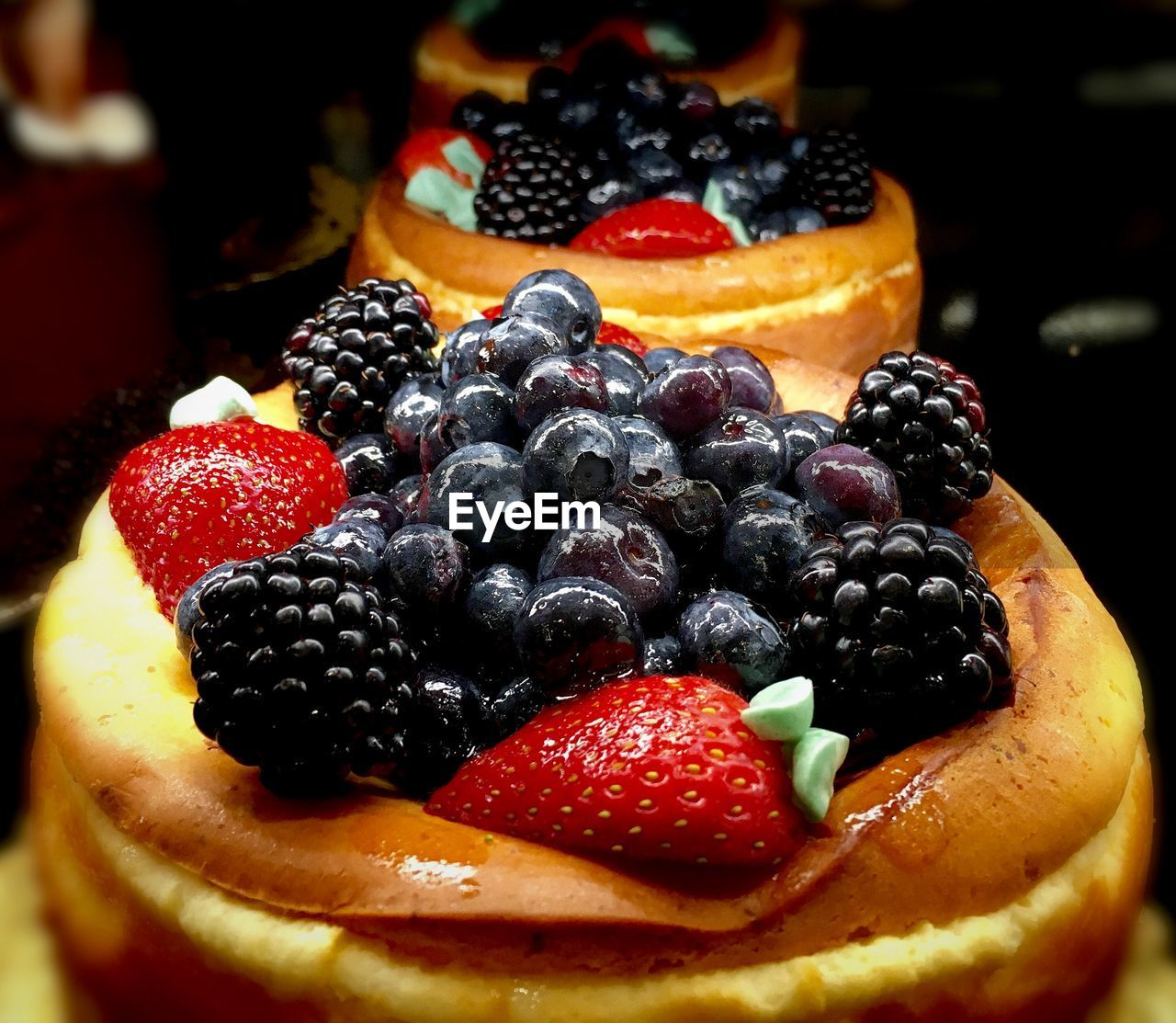 food and drink, sweet food, blueberry, food, fruit, freshness, strawberry, berry fruit, dessert, indulgence, blackberry, temptation, close-up, blackberry - fruit, still life, raspberry, cake, baked, ready-to-eat, indoors, no people, unhealthy eating, plate, tart - dessert, dessert topping, sweet pie, day
