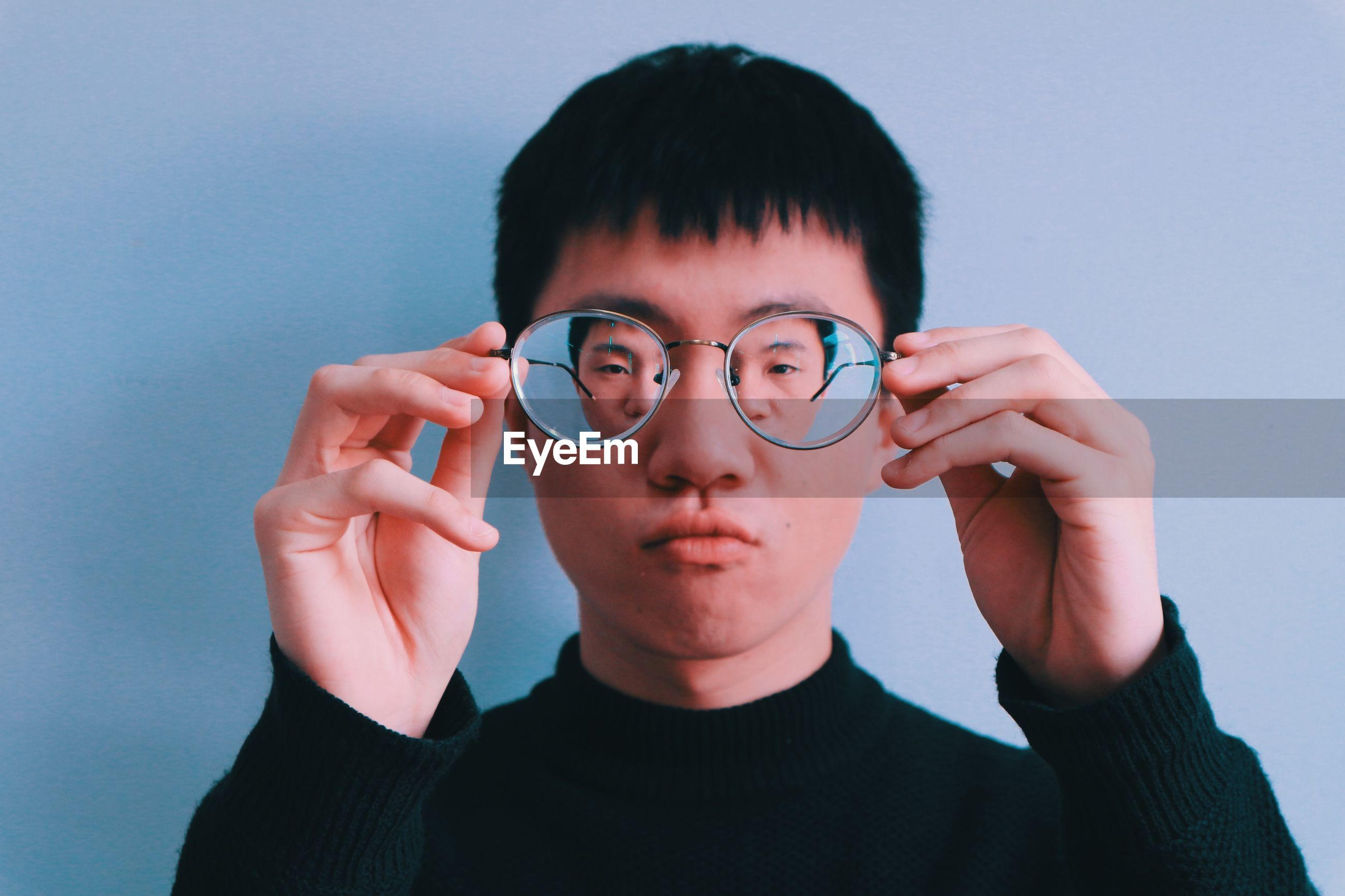 Portrait of man with eyeglasses