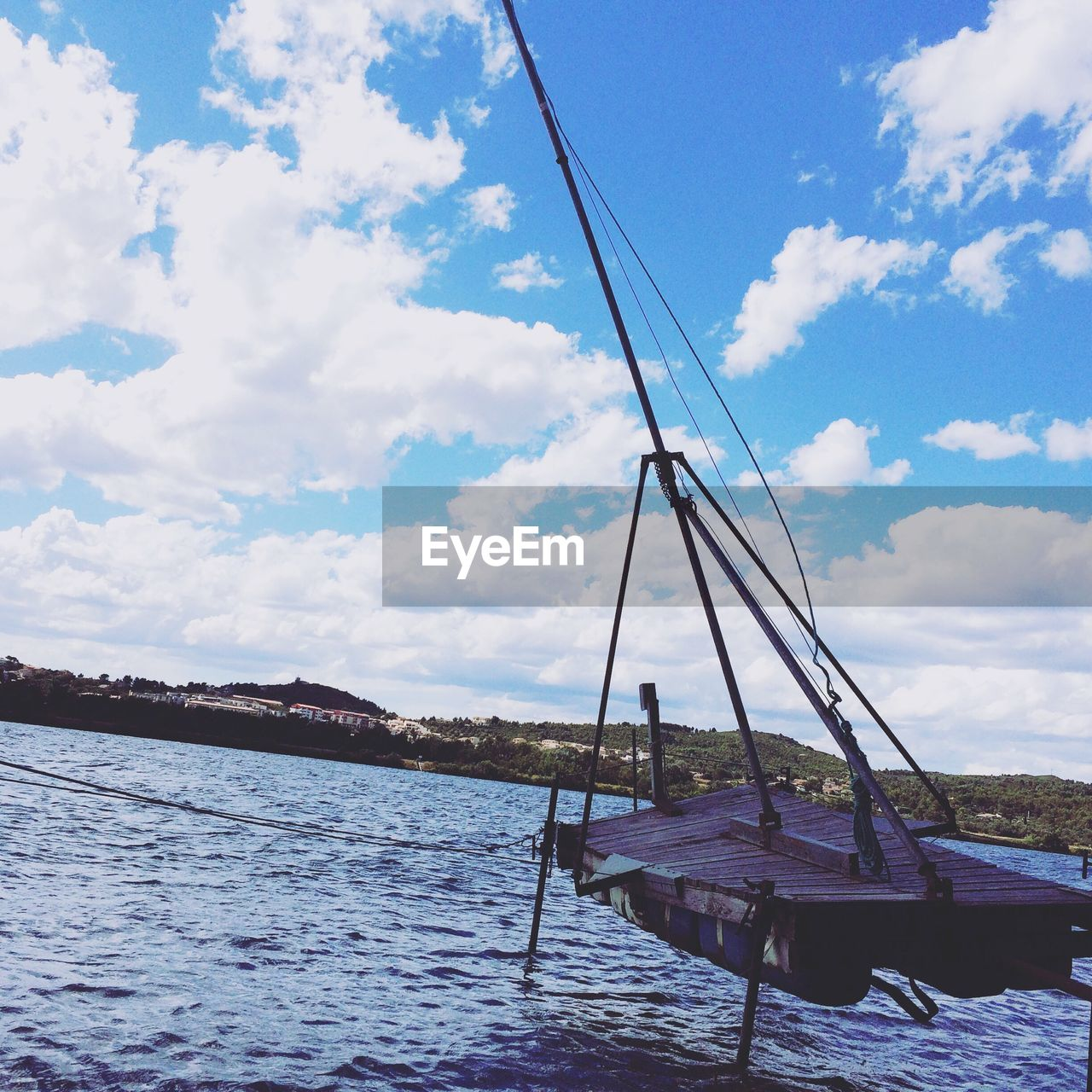 sky, cloud - sky, mode of transport, transportation, nautical vessel, day, outdoors, no people, water, nature, scenics, beauty in nature