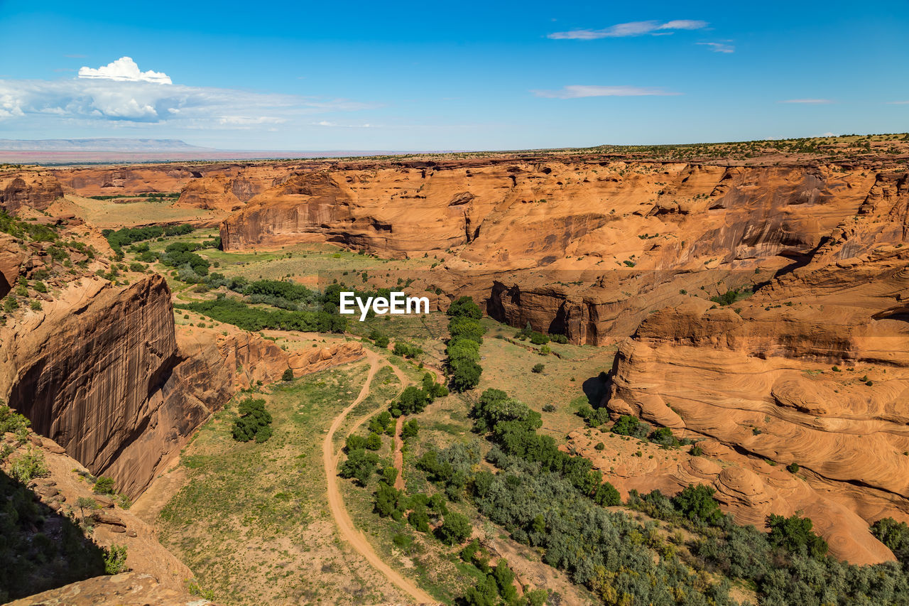 Scenic View Of Canyon De Chelly On Sunny Day