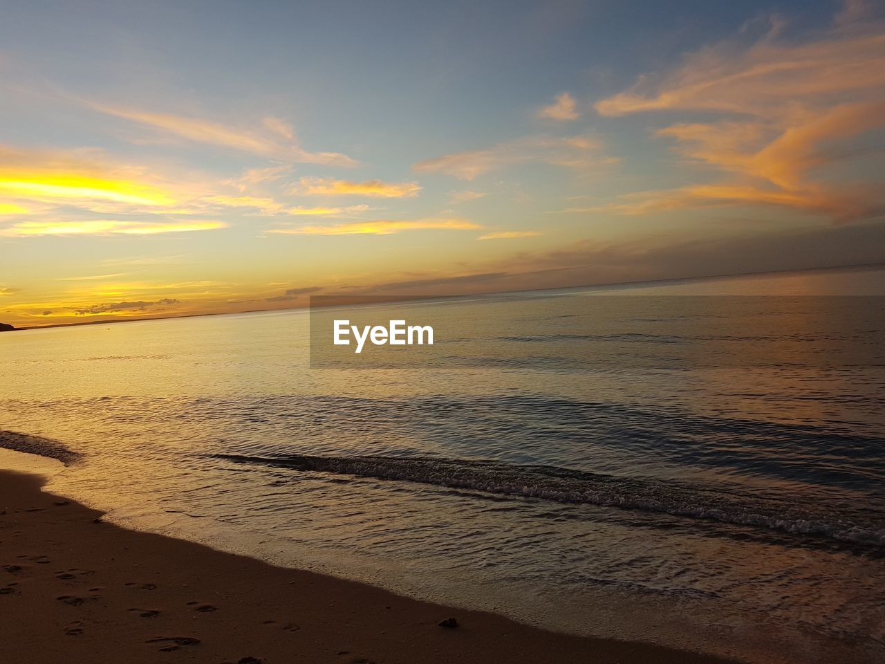 sunset, sky, sea, scenics - nature, beach, water, beauty in nature, land, horizon over water, cloud - sky, horizon, tranquility, orange color, tranquil scene, idyllic, sand, nature, non-urban scene, no people, outdoors