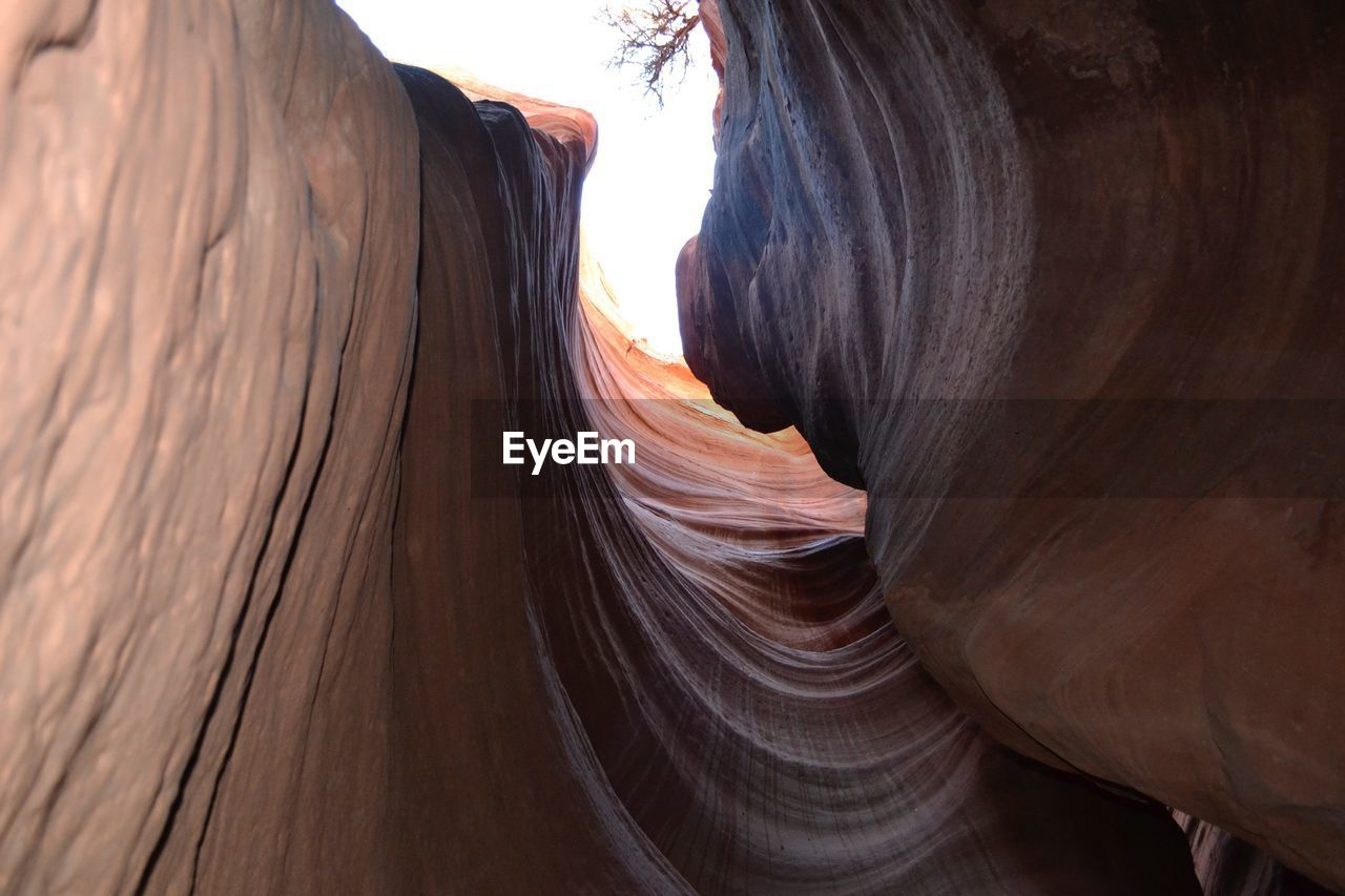 Low Angle View Of Rock Formation At Zion National Park