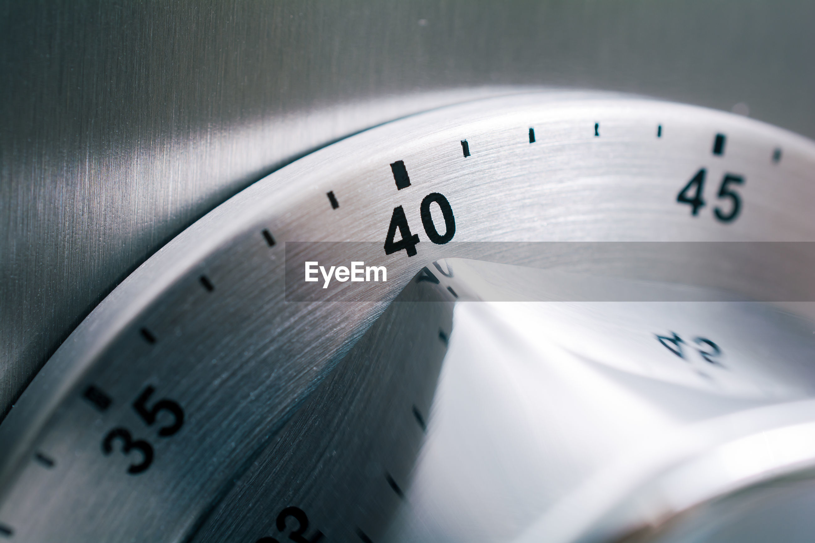 Close-up of timer