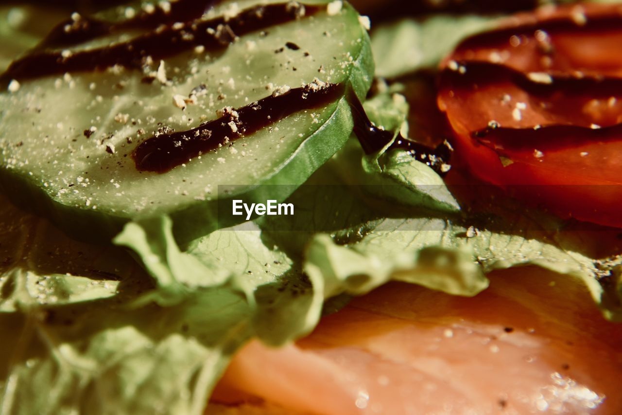 food, food and drink, freshness, close-up, vegetable, wellbeing, healthy eating, ready-to-eat, indoors, no people, still life, selective focus, sandwich, tomato, fruit, serving size, slice, meat, bread, full frame, temptation, vegetarian food