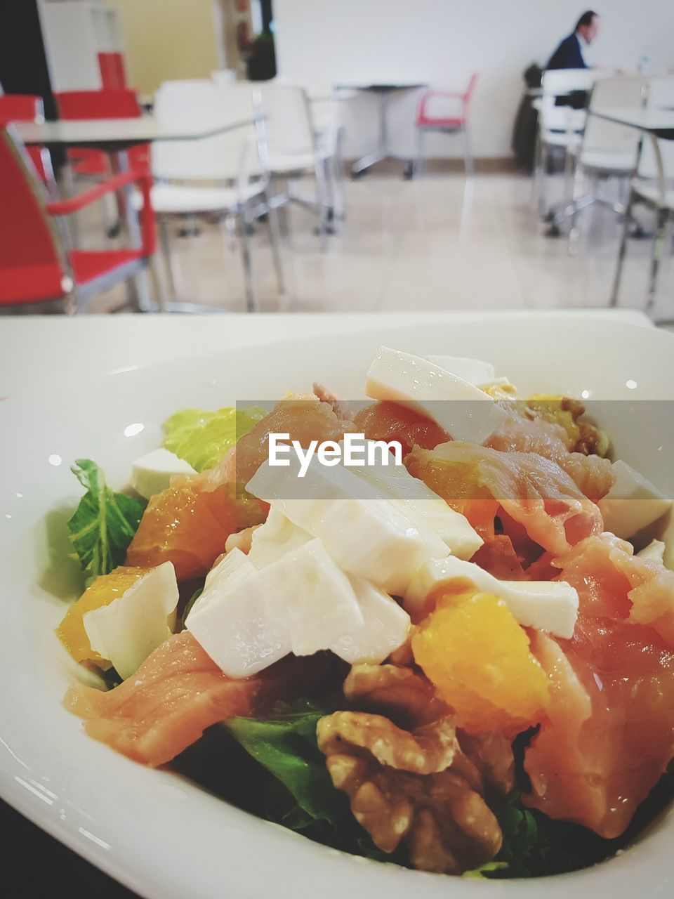food and drink, food, plate, healthy eating, indoors, wellbeing, freshness, ready-to-eat, vegetable, serving size, table, close-up, fruit, focus on foreground, meal, salad, no people, orange color, still life, selective focus, garnish, orange, temptation, dinner