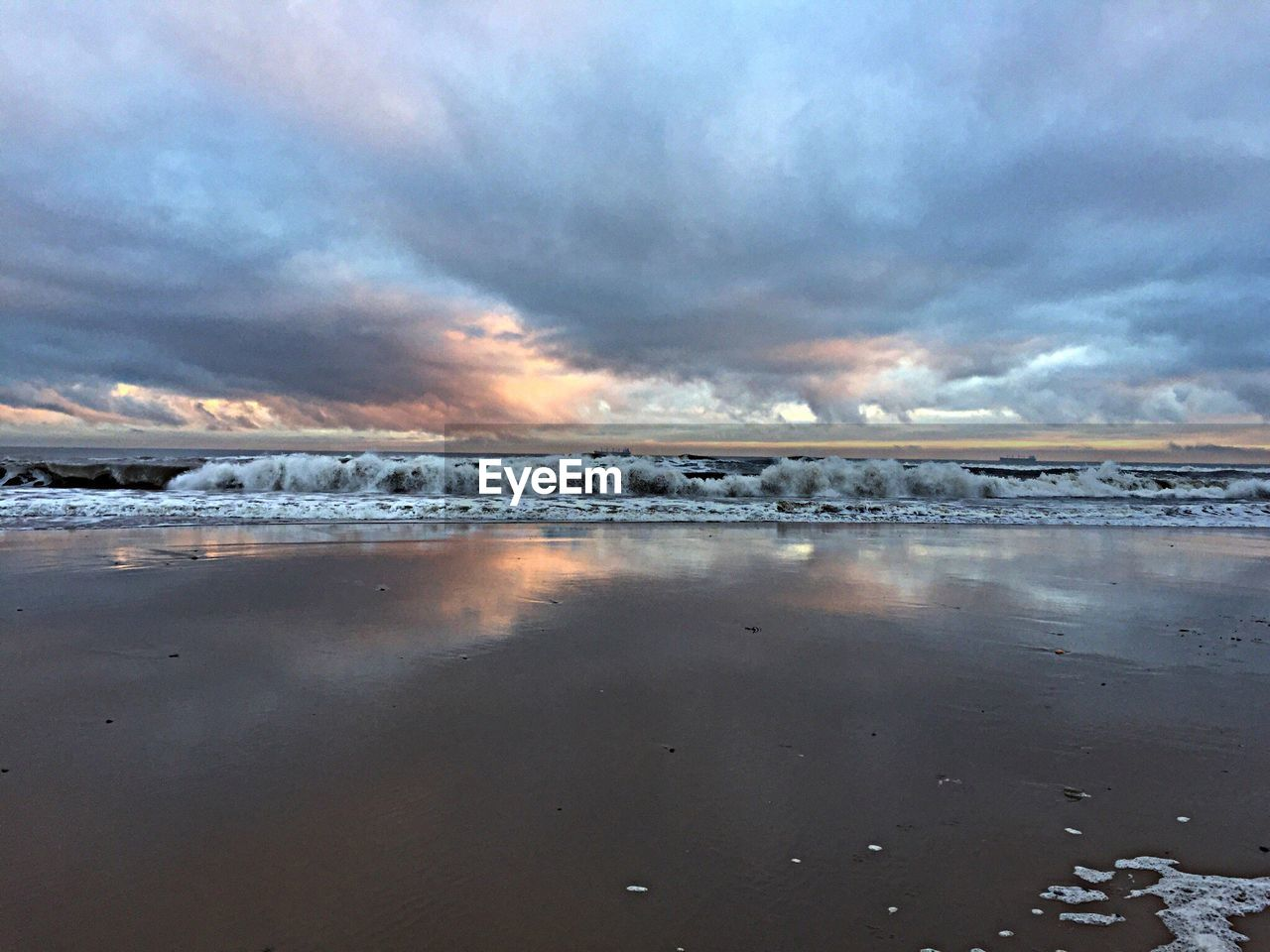 nature, sky, tranquility, beauty in nature, tranquil scene, scenics, cloud - sky, ice, outdoors, cold temperature, no people, beach, water, frozen, day, winter, sea, iceberg