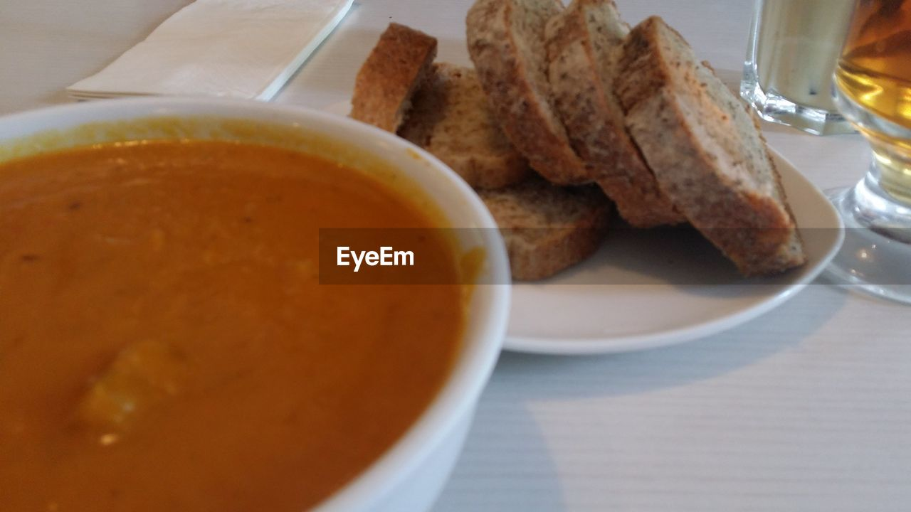 food and drink, food, freshness, still life, ready-to-eat, table, serving size, plate, bread, drink, indoors, close-up, no people, bowl, healthy eating, breakfast, dip, day