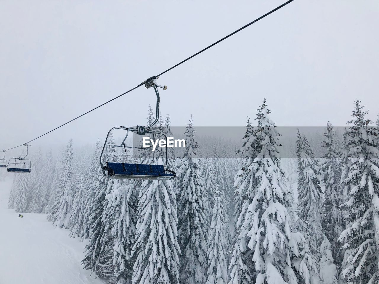 snow, winter, cold temperature, cable car, tree, overhead cable car, ski lift, plant, nature, cable, beauty in nature, covering, mountain, day, no people, scenics - nature, transportation, sky, mode of transportation, outdoors, snowcapped mountain, snowing