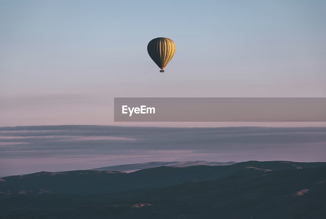 Hot Air Balloon Against Sky During Sunset