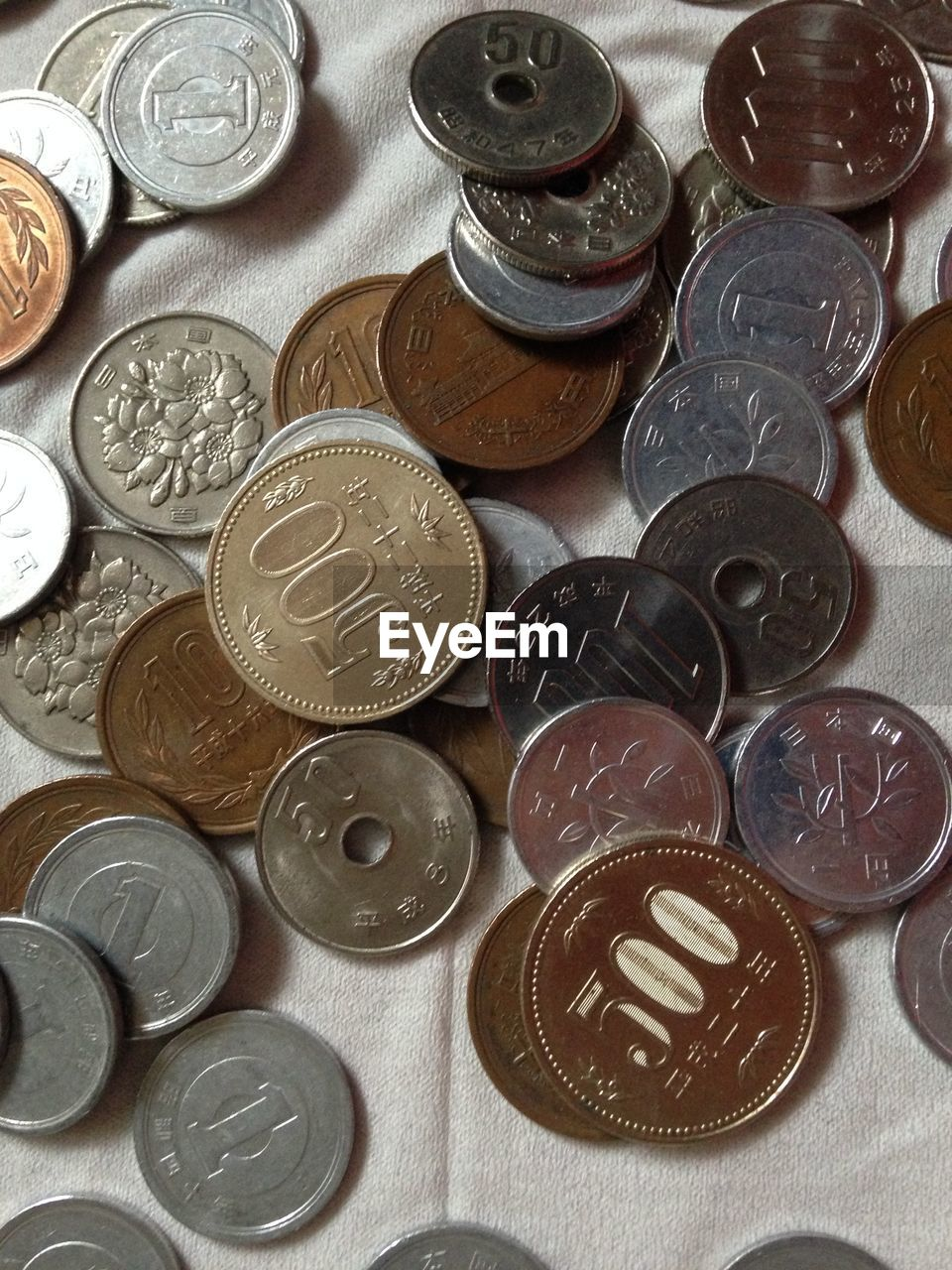 Close-Up View Of Coins