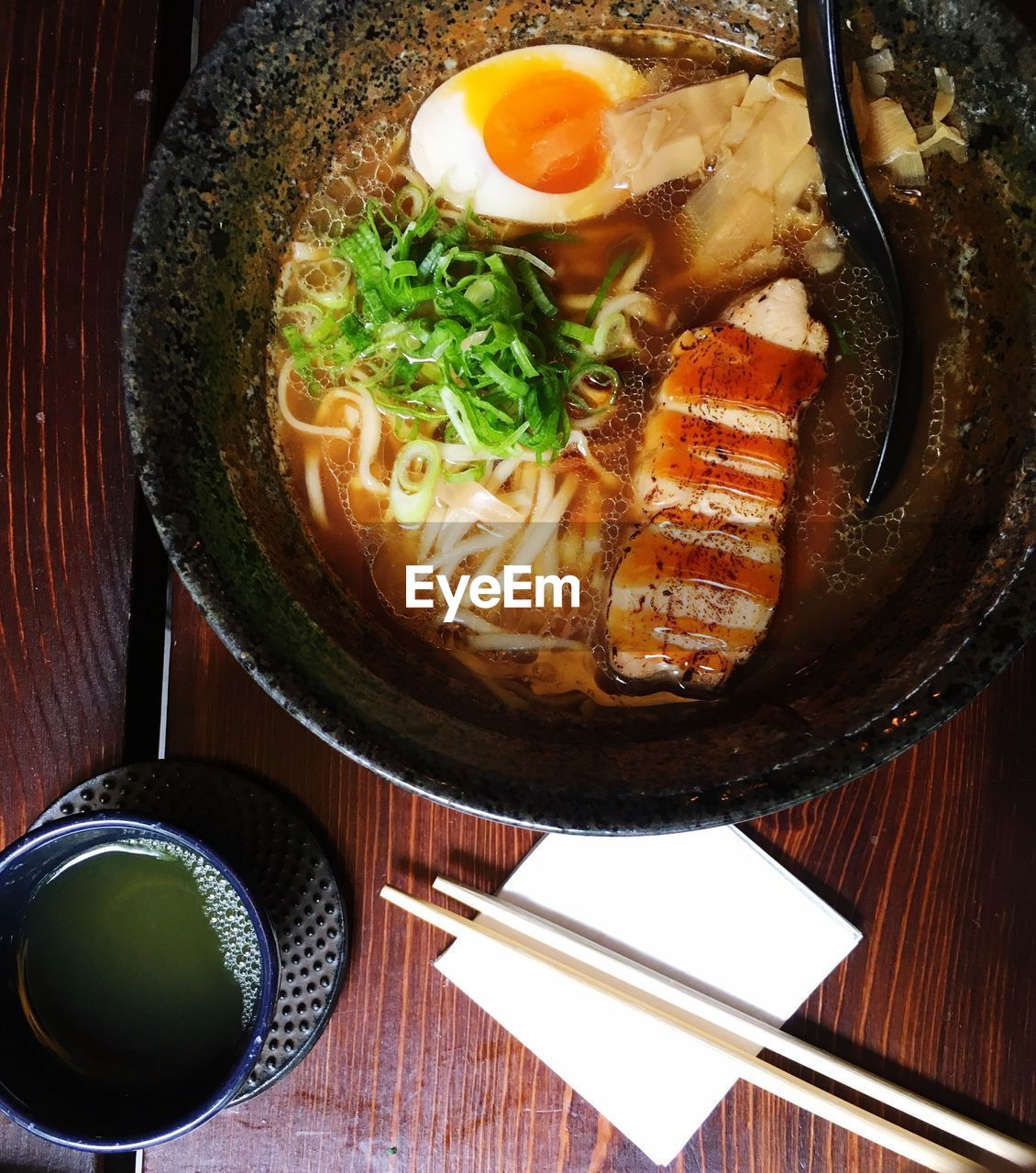 food and drink, food, freshness, ready-to-eat, meat, high angle view, healthy eating, indoors, still life, asian food, no people, close-up, kitchen utensil, table, bowl, japanese food, serving size, vegetable, wellbeing, directly above, meal, crockery, korean food, garnish