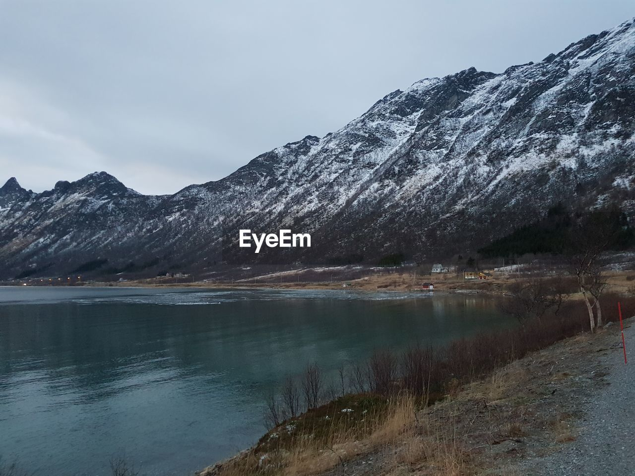 water, mountain, beauty in nature, scenics - nature, sky, tranquility, tranquil scene, lake, nature, no people, mountain range, reflection, cold temperature, non-urban scene, day, winter, environment, cloud - sky, outdoors