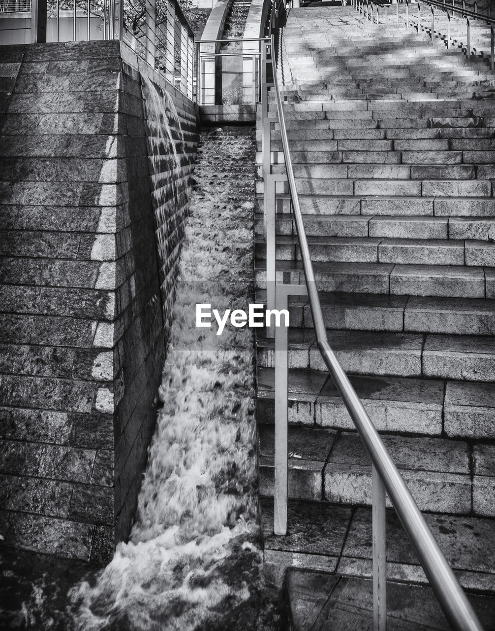 Waterfall by staircase